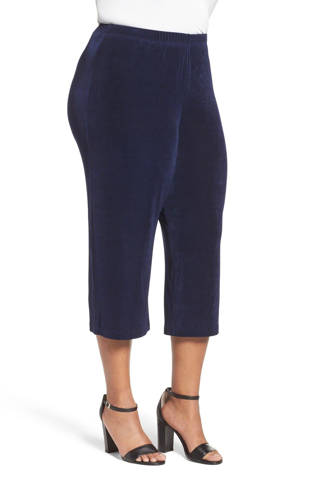 Alternate Image 3  - Vikki Vi Stretch Knit Crop Pants (Plus Size)