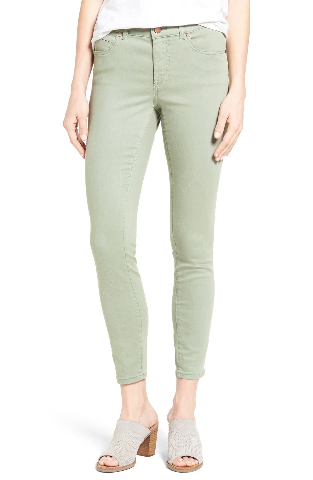 Alternate Image 1 Selected - Caslon® Stretch Ankle Skinny Pants (Regular & Petite)