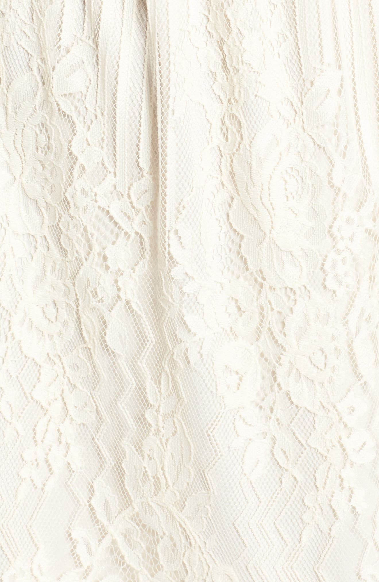 Alternate Image 5  - Trixxi Stripe Lace Off the Shoulder Dress