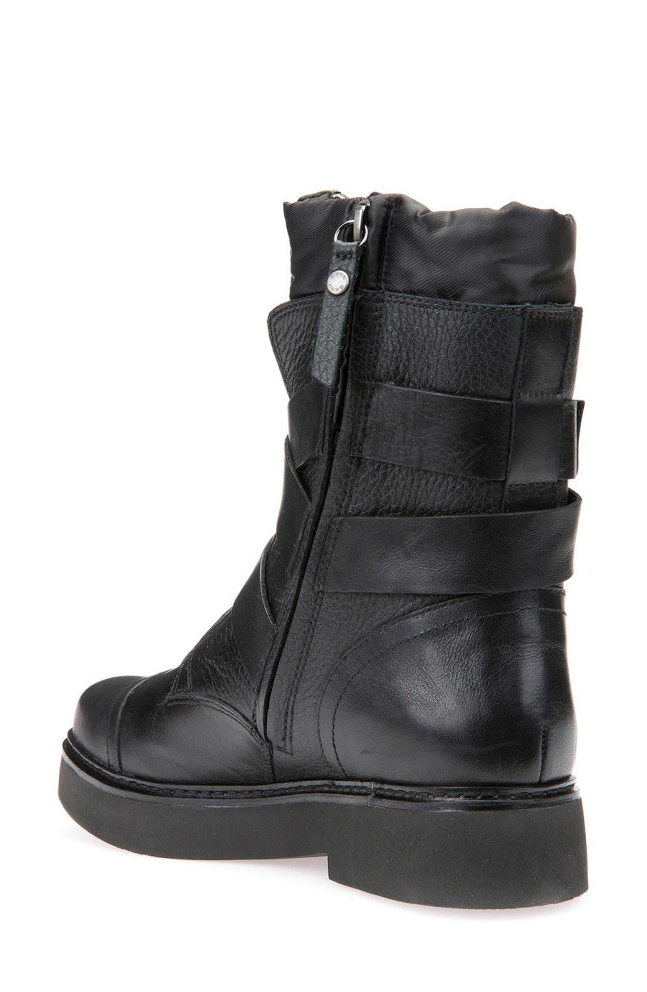 Alternate Image 2  - Geox Rayssa Moto Boot (Women)