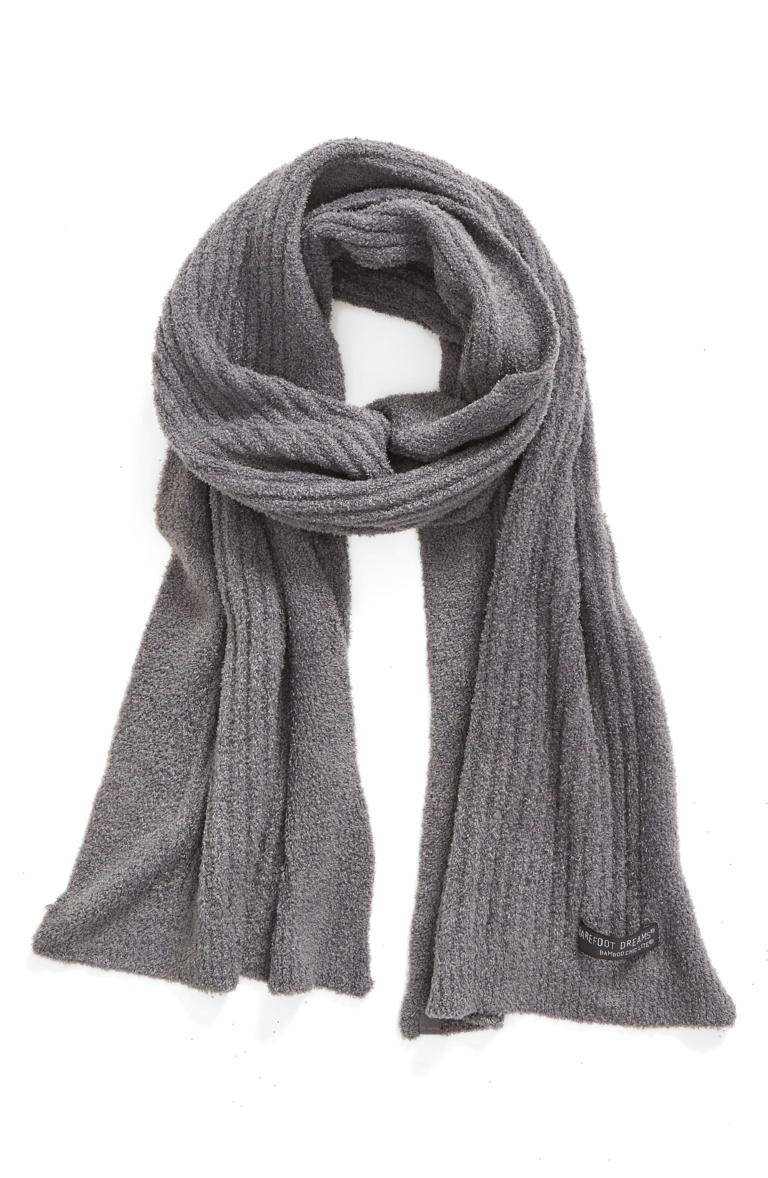 CozyChic Lite<sup>®</sup> Ribbed Scarf,                             Main thumbnail 1, color,                             Graphite