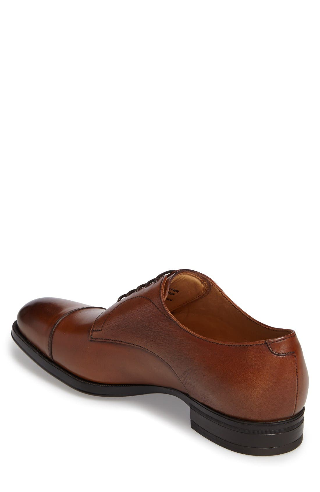 Tosto Cap Toe Derby,                             Alternate thumbnail 2, color,                             Luggage Leather