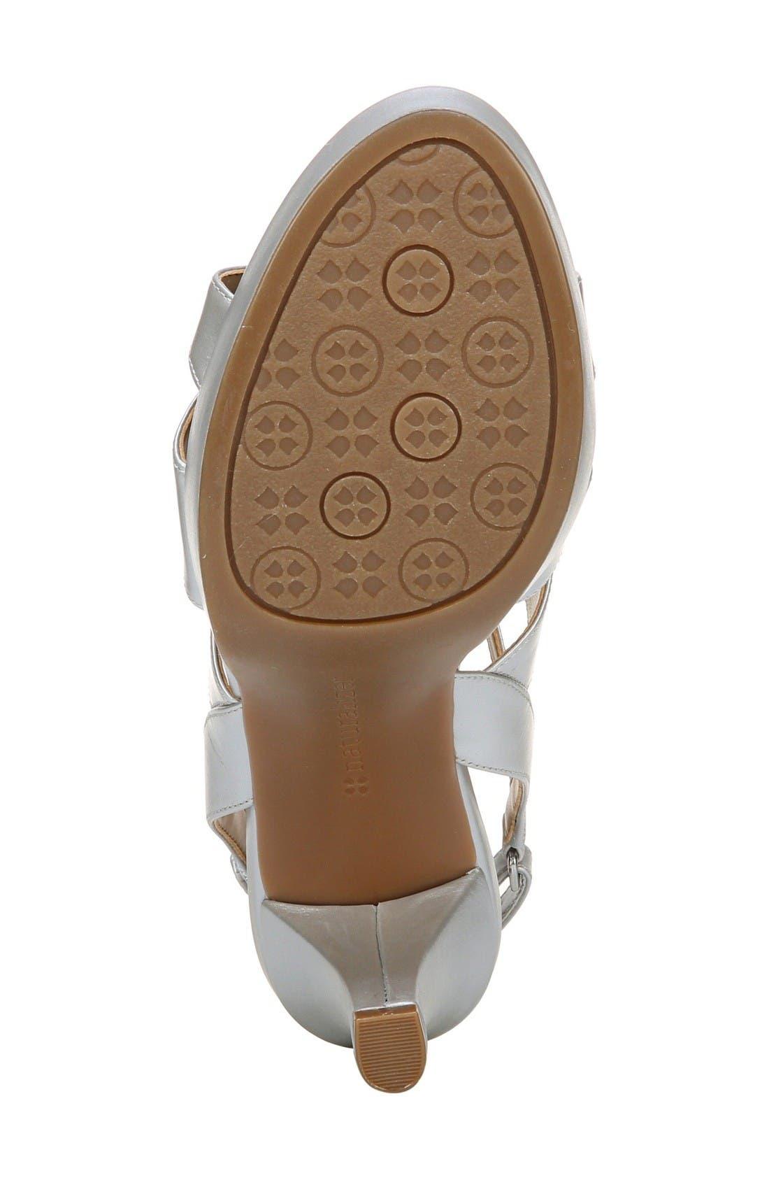 'Pressley' Slingback Platform Sandal,                             Alternate thumbnail 4, color,                             Silver Leather