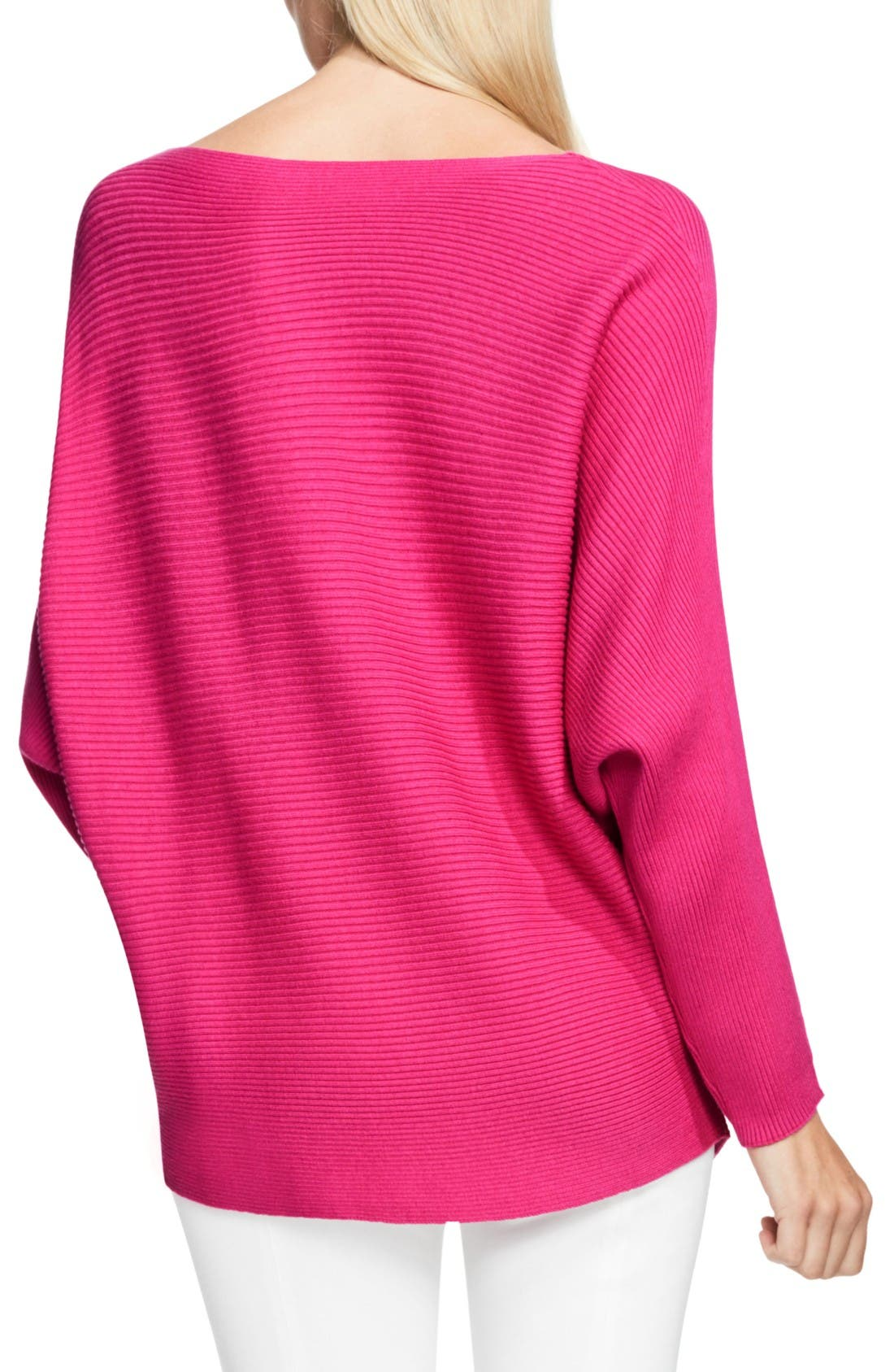 Alternate Image 2  - Vince Camuto Rib Knit Dolman Sweater