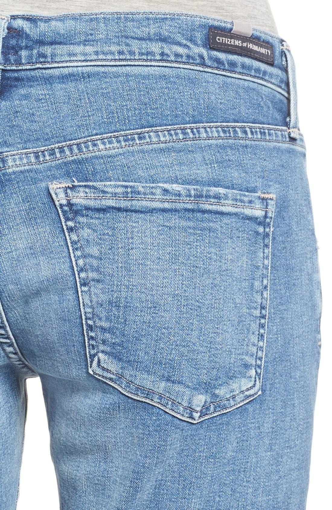 Emerson Slim Boyfriend Jeans,                             Alternate thumbnail 4, color,                             Pacifica