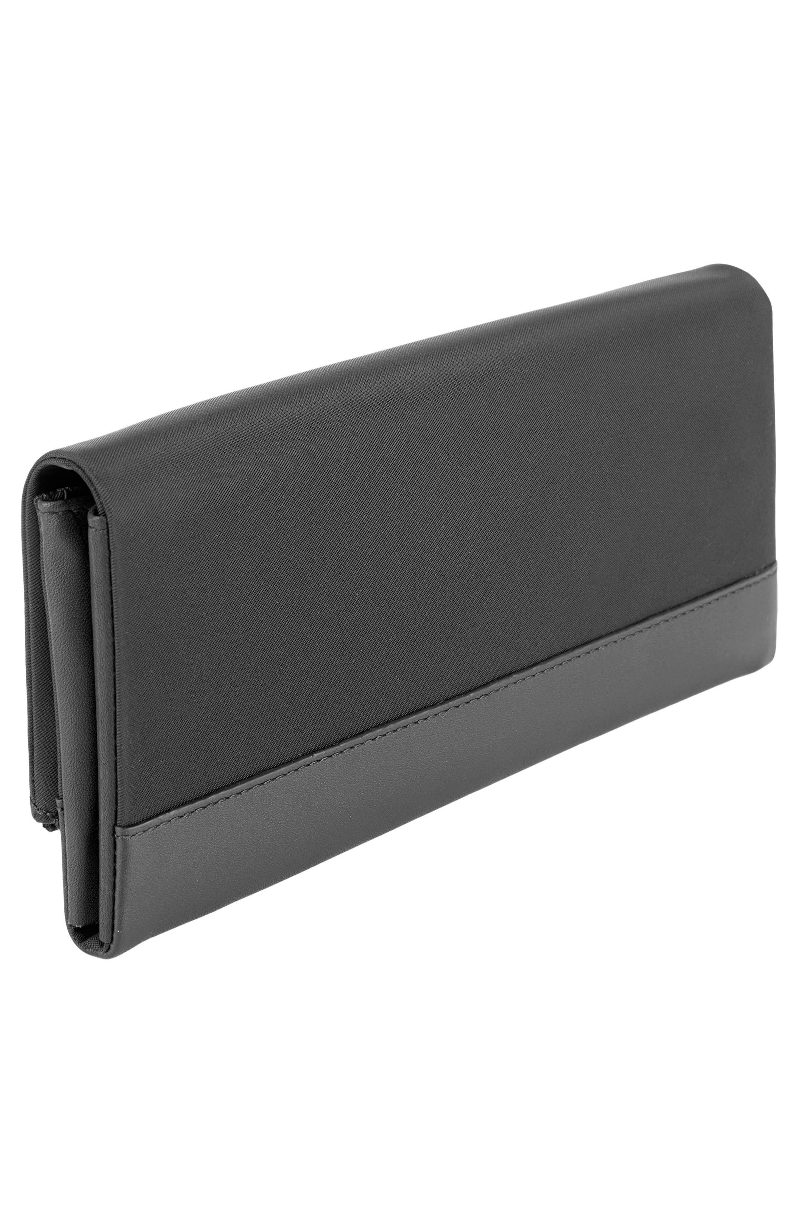 Continental Flap Tech Wallet,                             Alternate thumbnail 3, color,                             Black