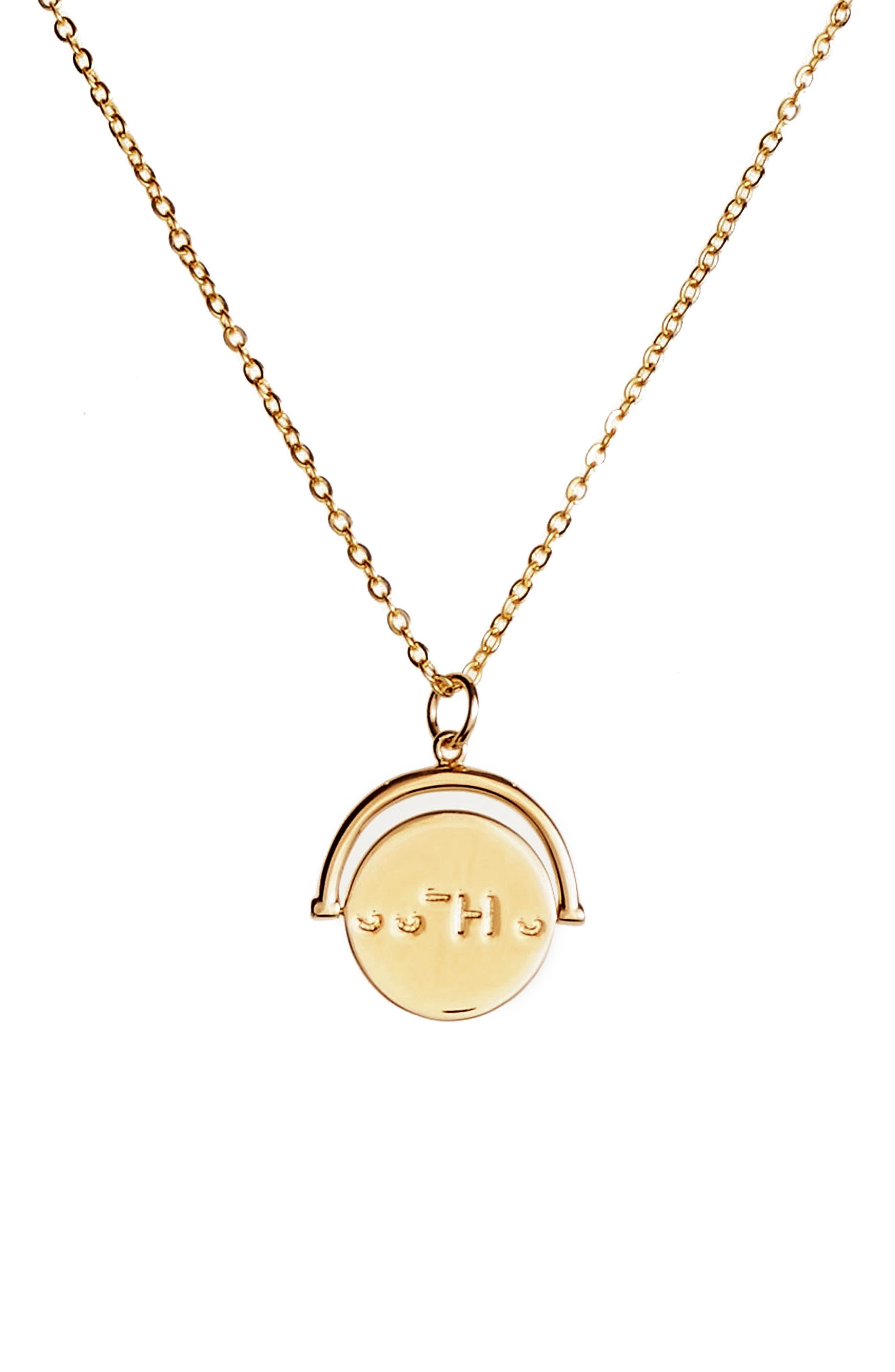 LULU DK Sisters Love Code Charm Necklace