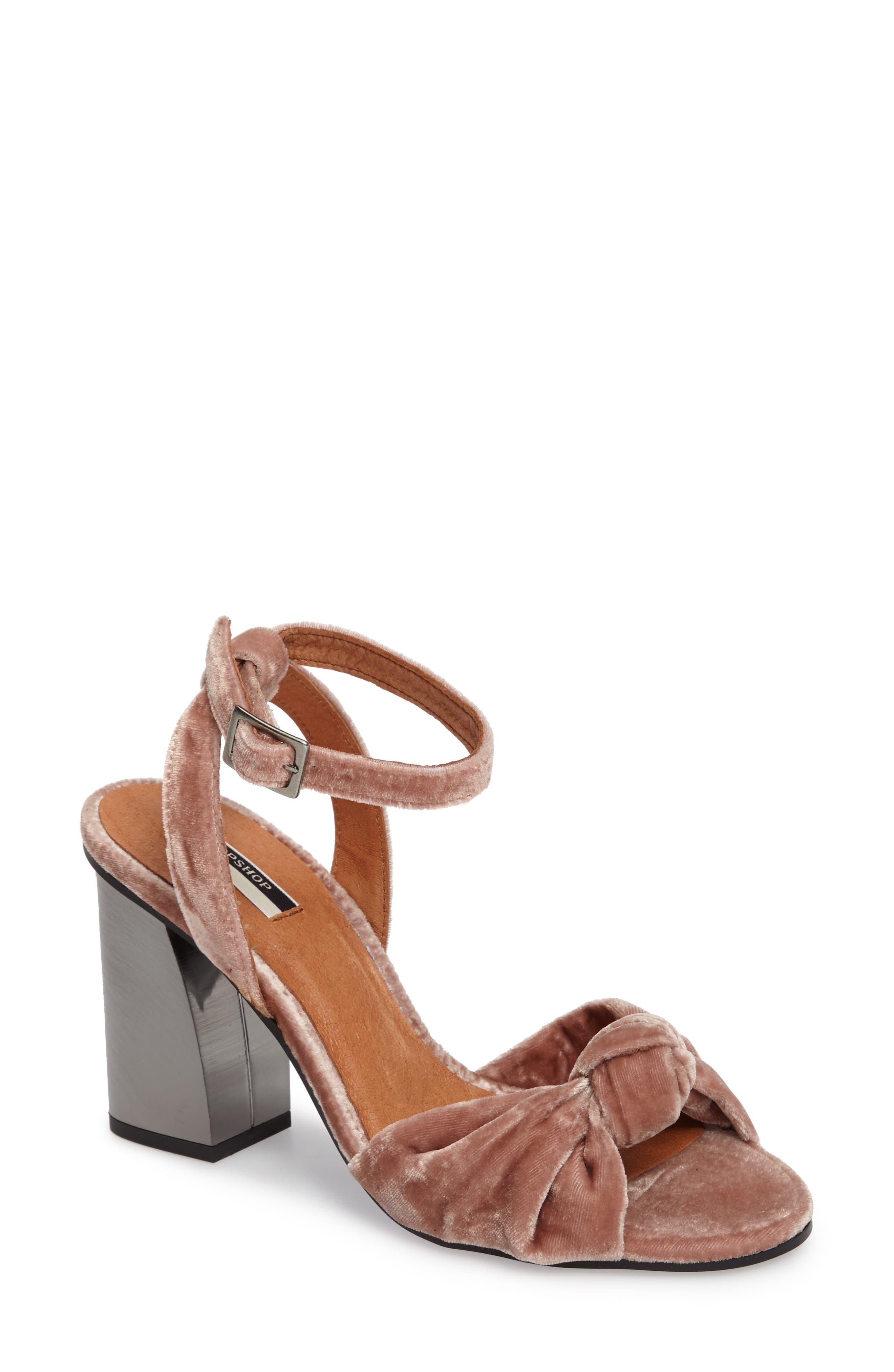 Main Image - Topshop Rocksy Ankle Strap Sandal (Women)