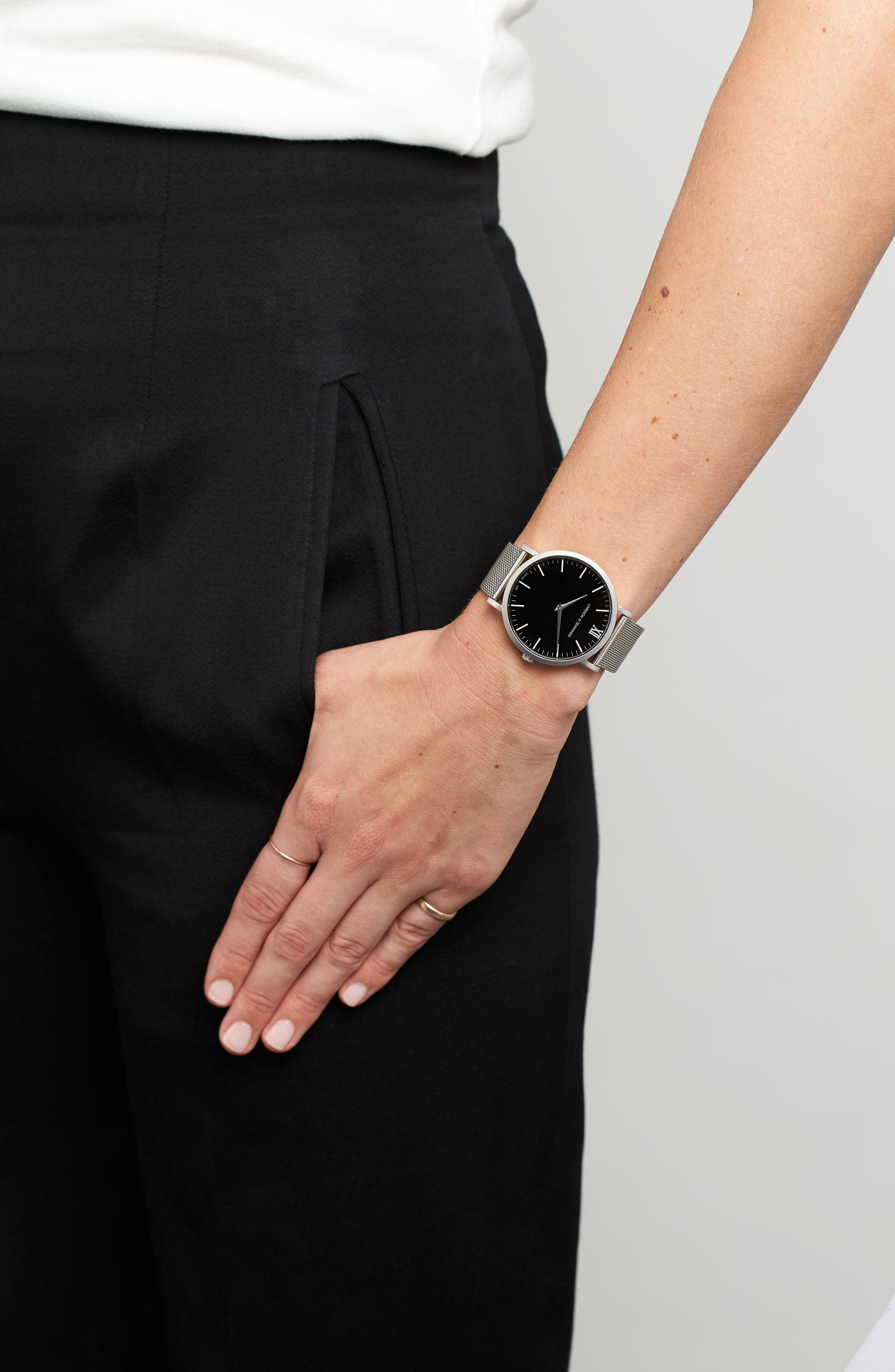 Alternate Image 6  - Larsson & Jennings Lugano Mesh Strap Watch, 40mm