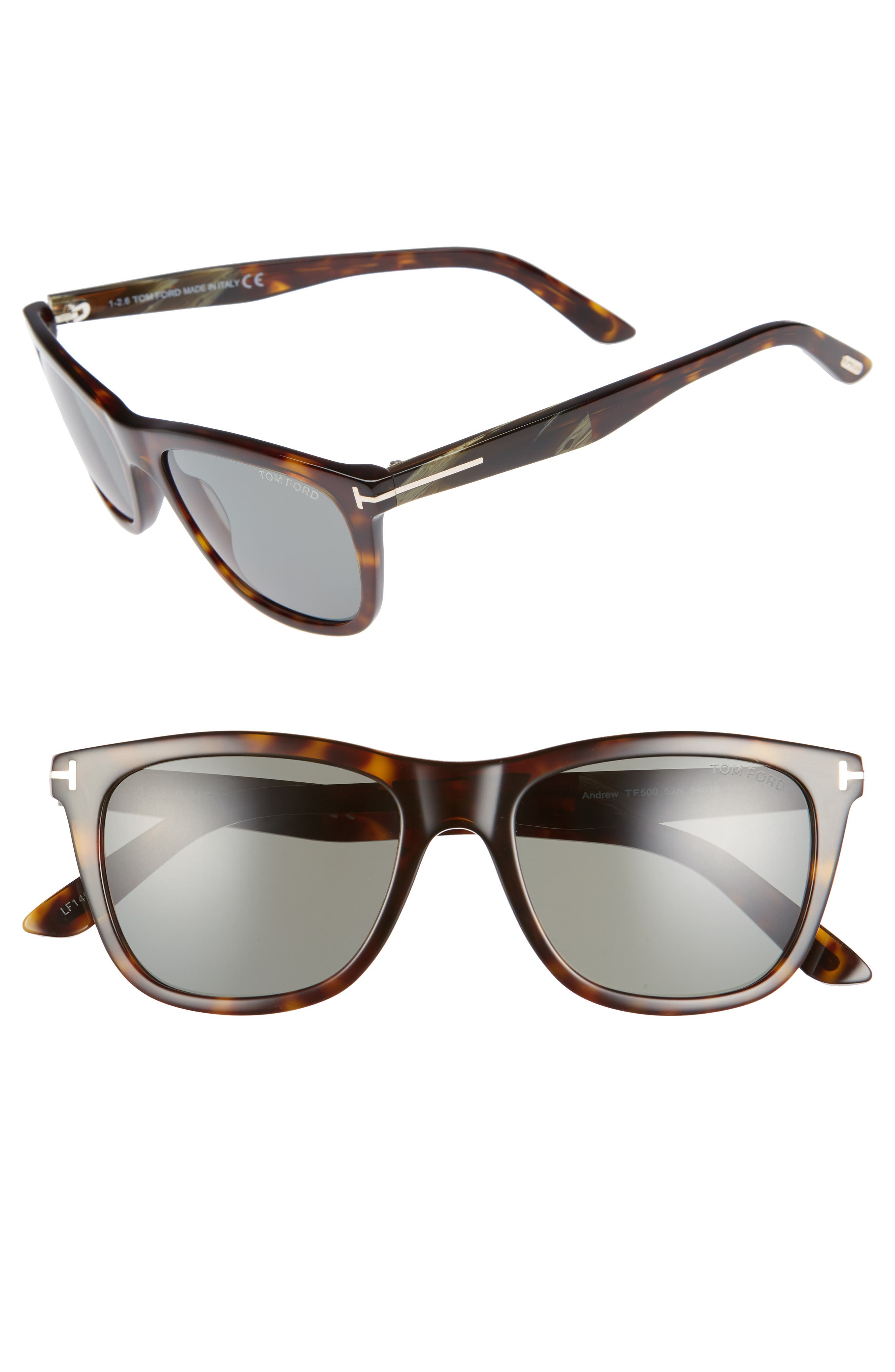 Main Image - Tom Ford Andrew 54mm Polarized Sunglasses