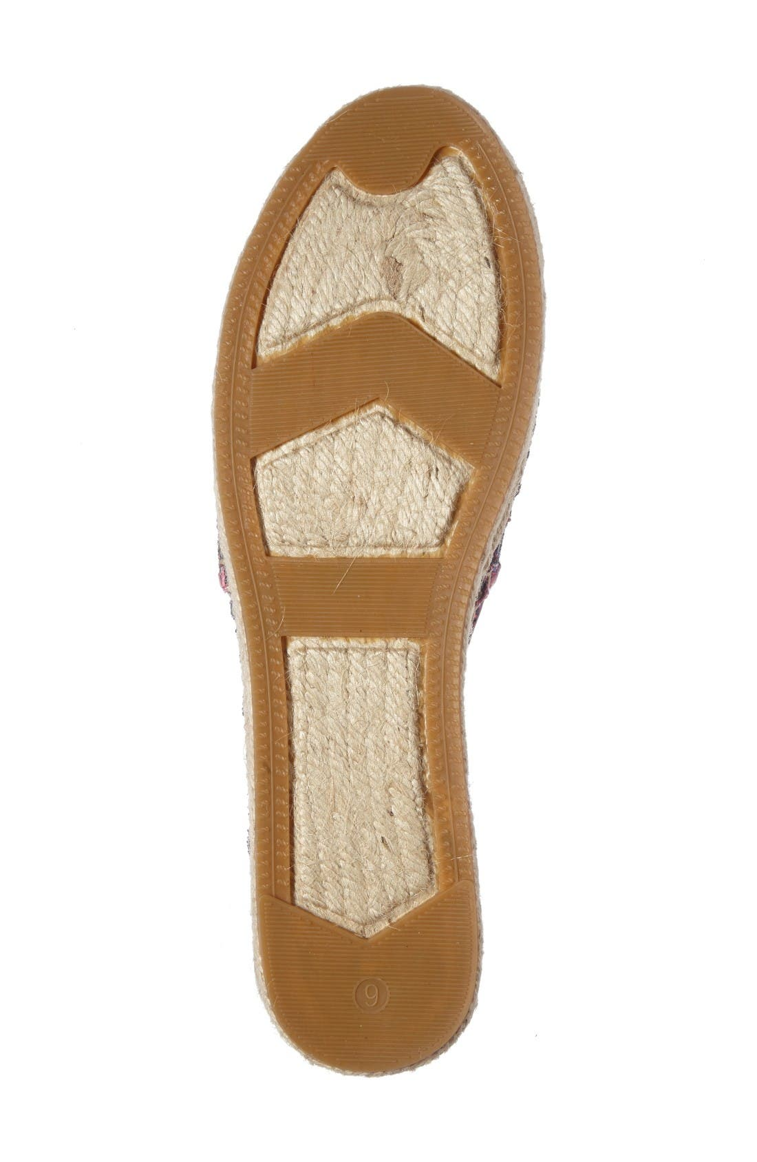 'linds' bow espadrille,                             Alternate thumbnail 4, color,                             Purple Glitter