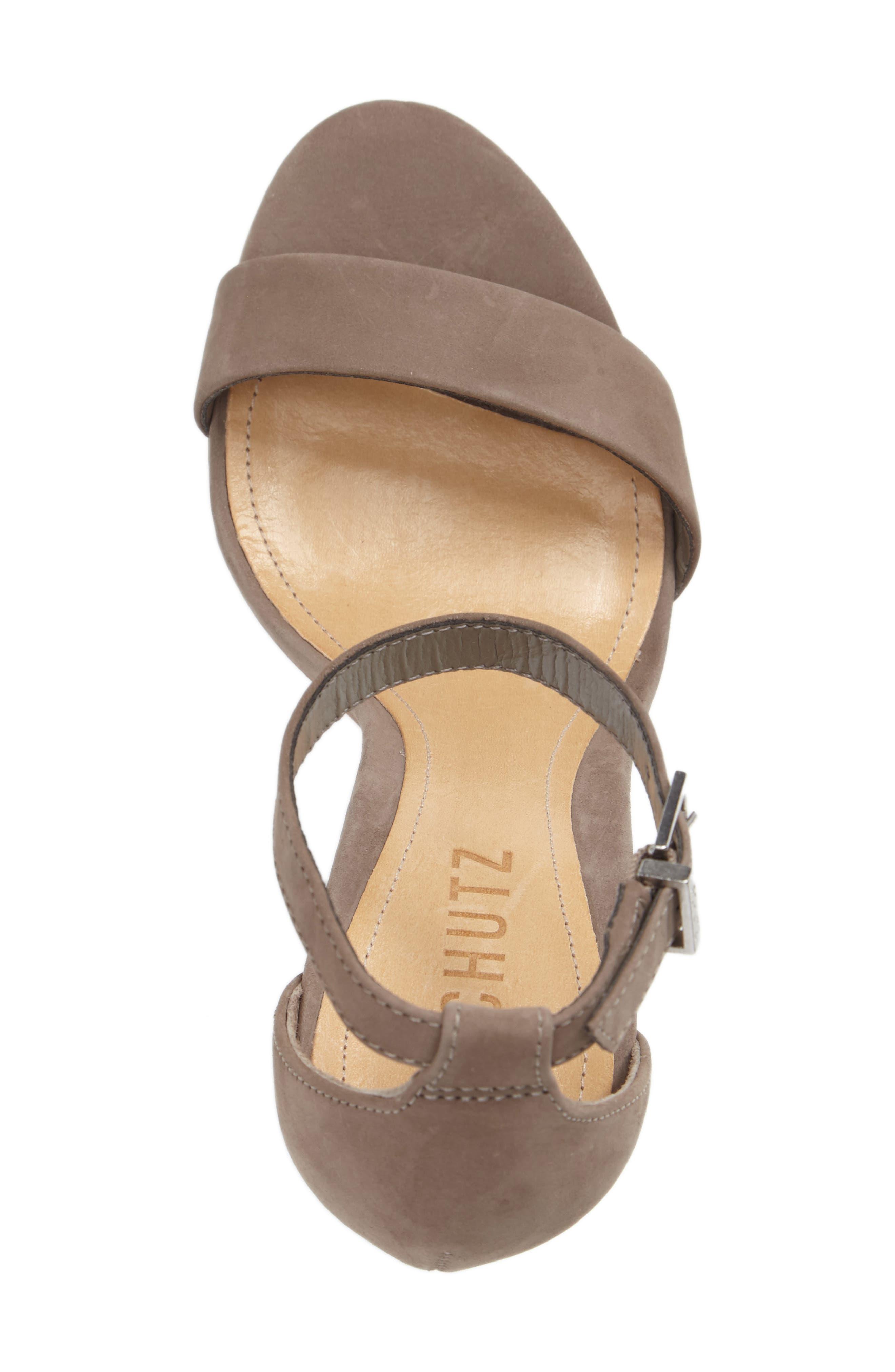 Enida Sandal,                             Alternate thumbnail 3, color,                             Mouse Nubuck Leather