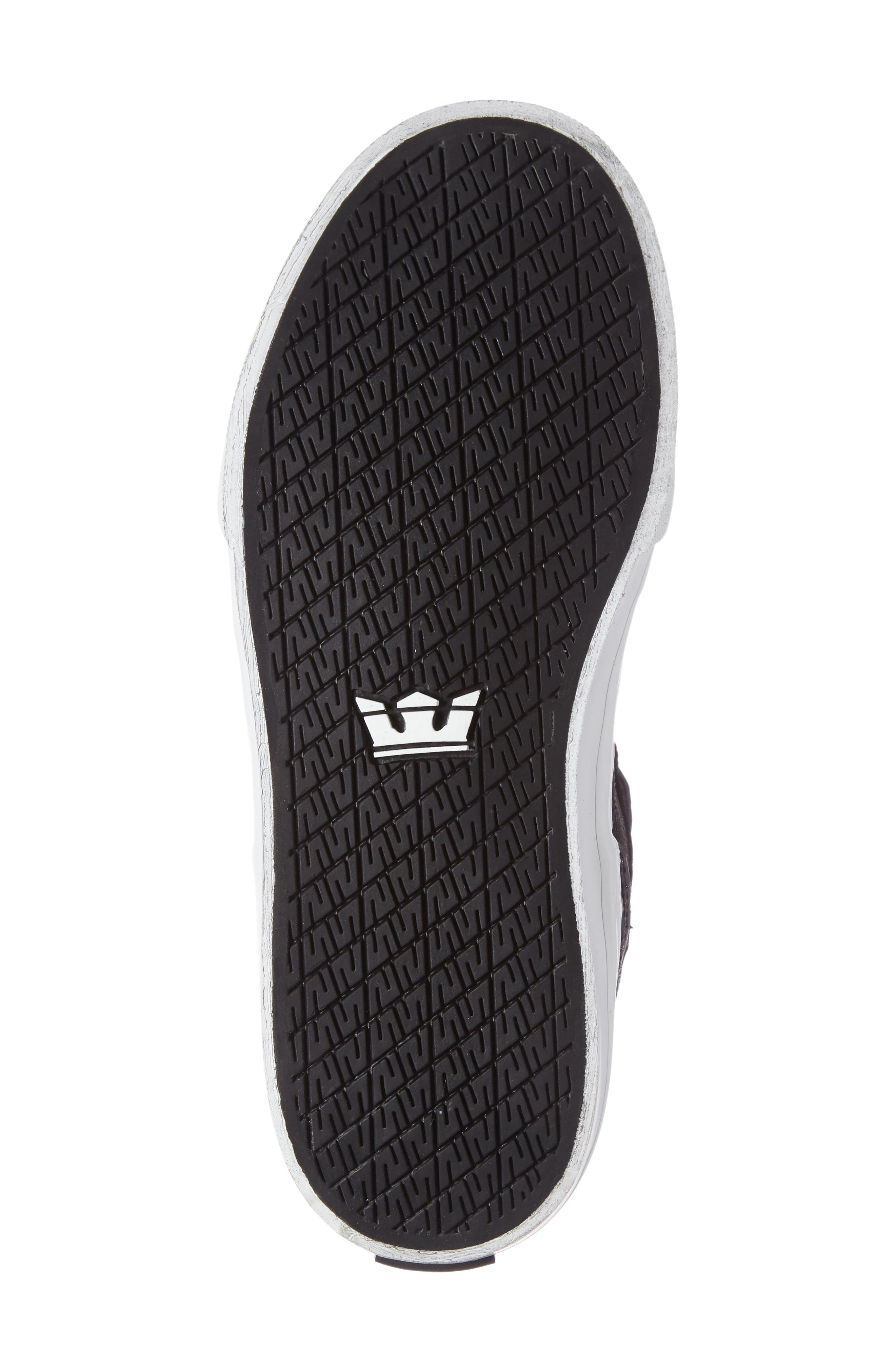 'Skytop' High Top Sneaker,                             Alternate thumbnail 4, color,                             Black/ White