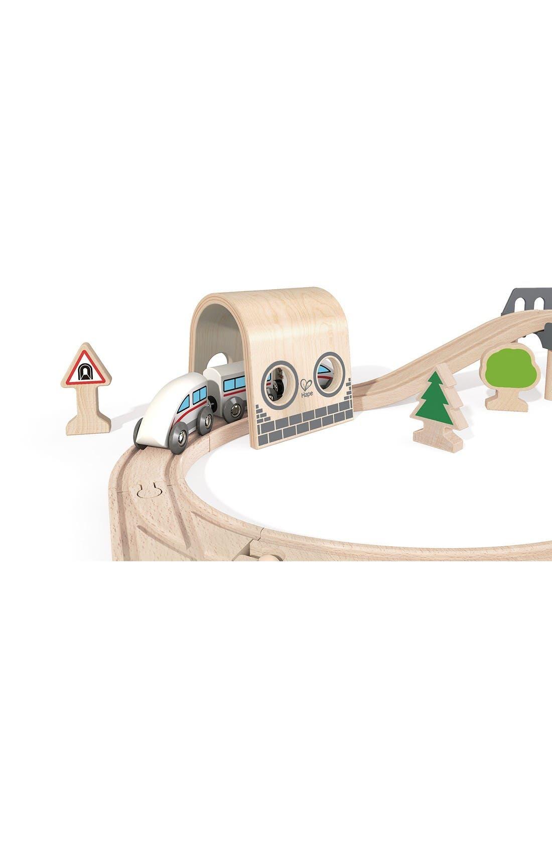 Double Loop Railway Wooden Train Set,                             Alternate thumbnail 4, color,                             Multi
