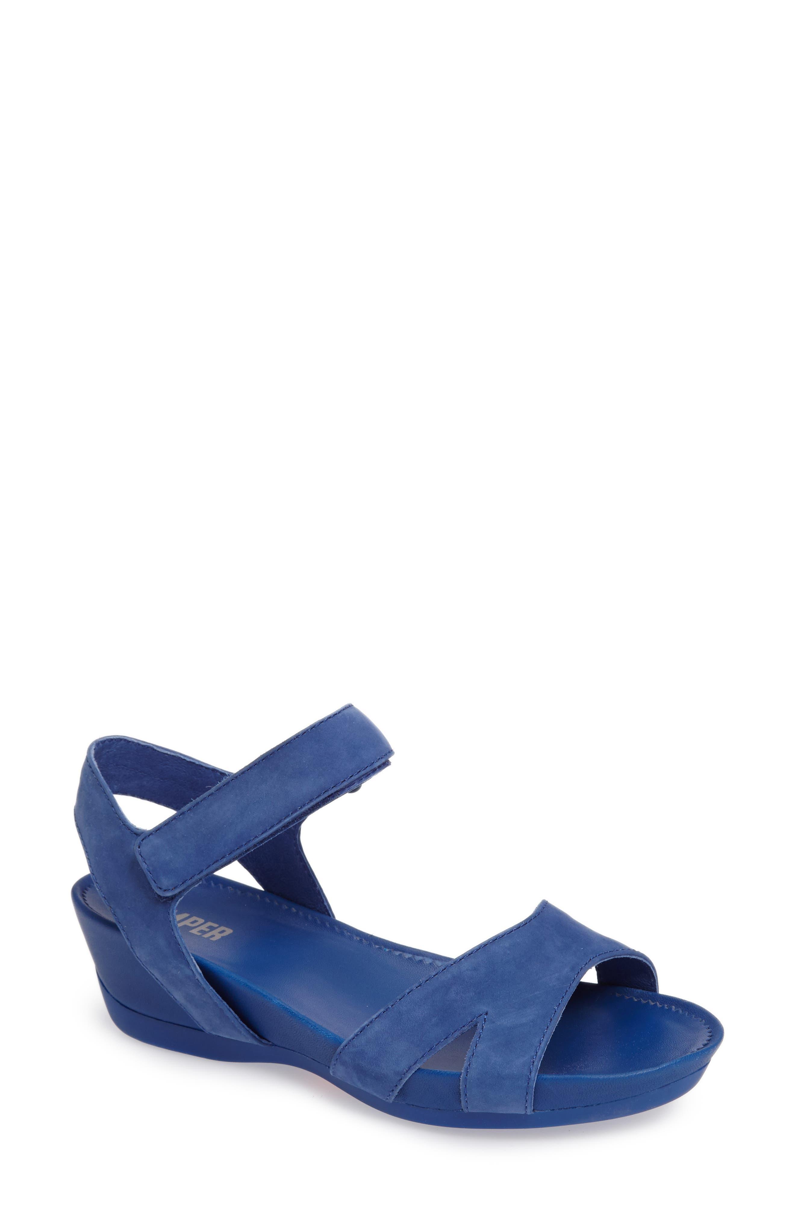 'Micro' Sandal,                             Main thumbnail 1, color,                             Blue Leather