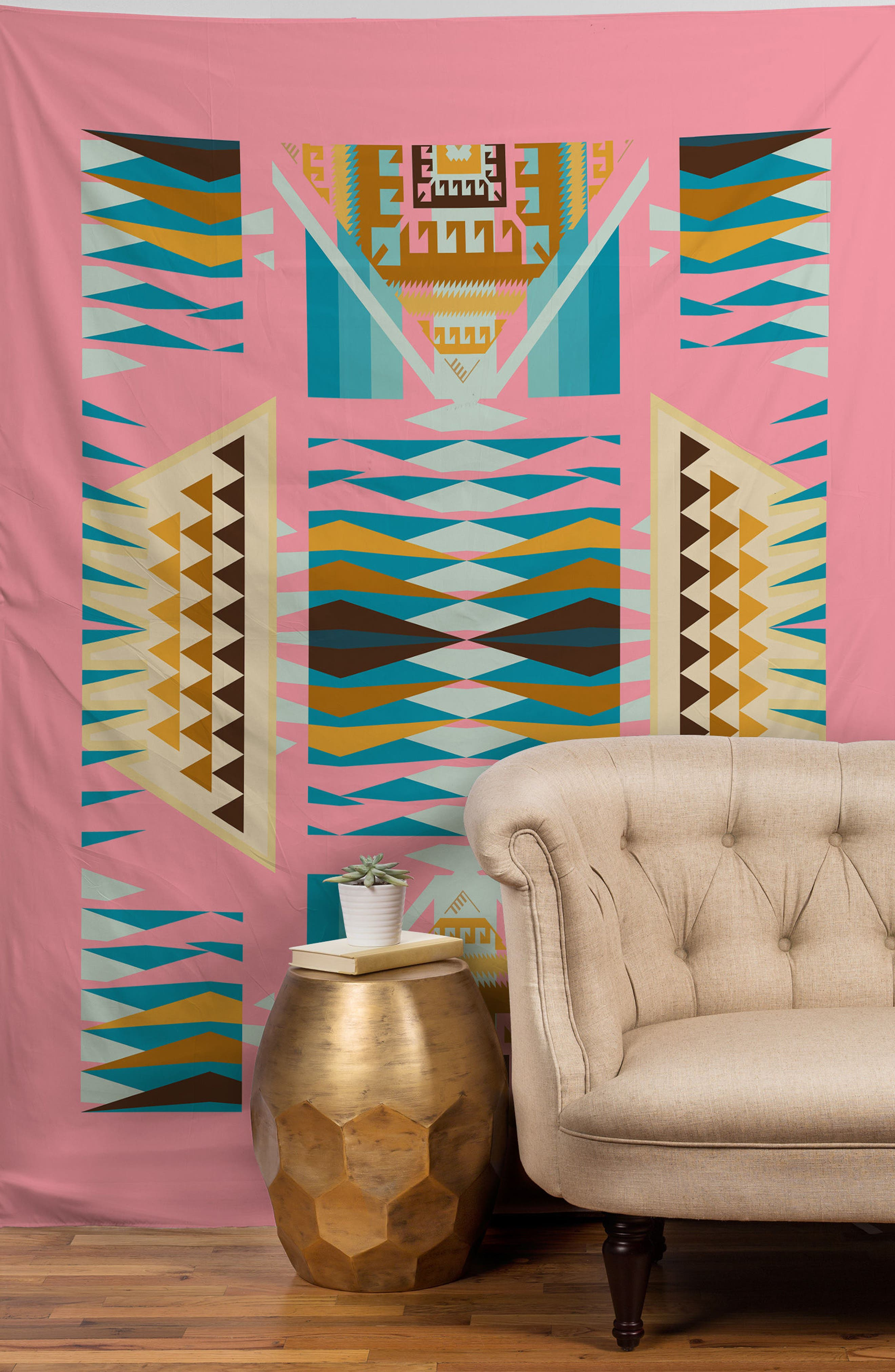 Alternate Image 2  - Deny Designs Acacia Pink Tapestry