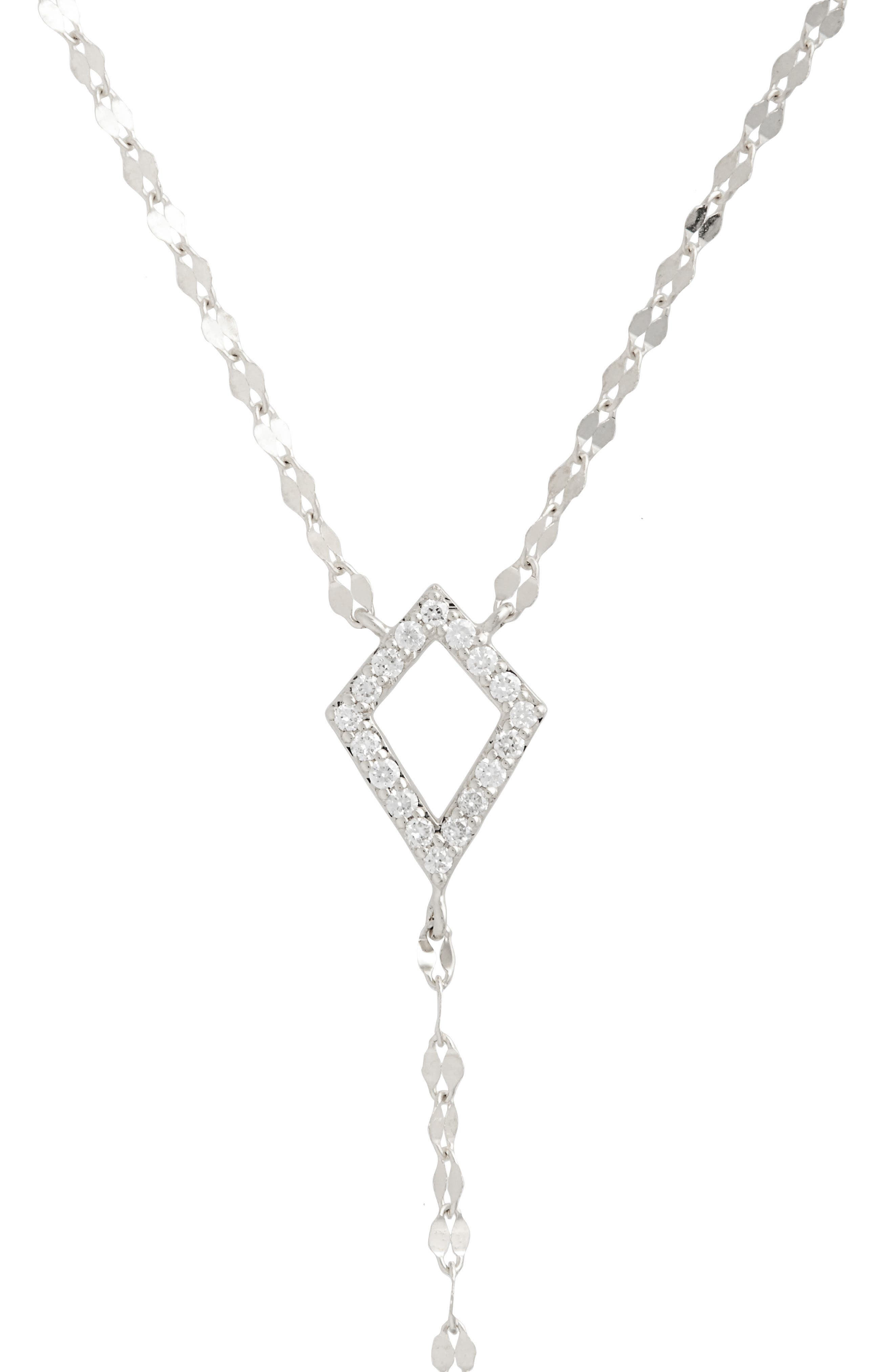 Flawless Diamond Kite Y-Necklace,                             Alternate thumbnail 2, color,                             White Gold