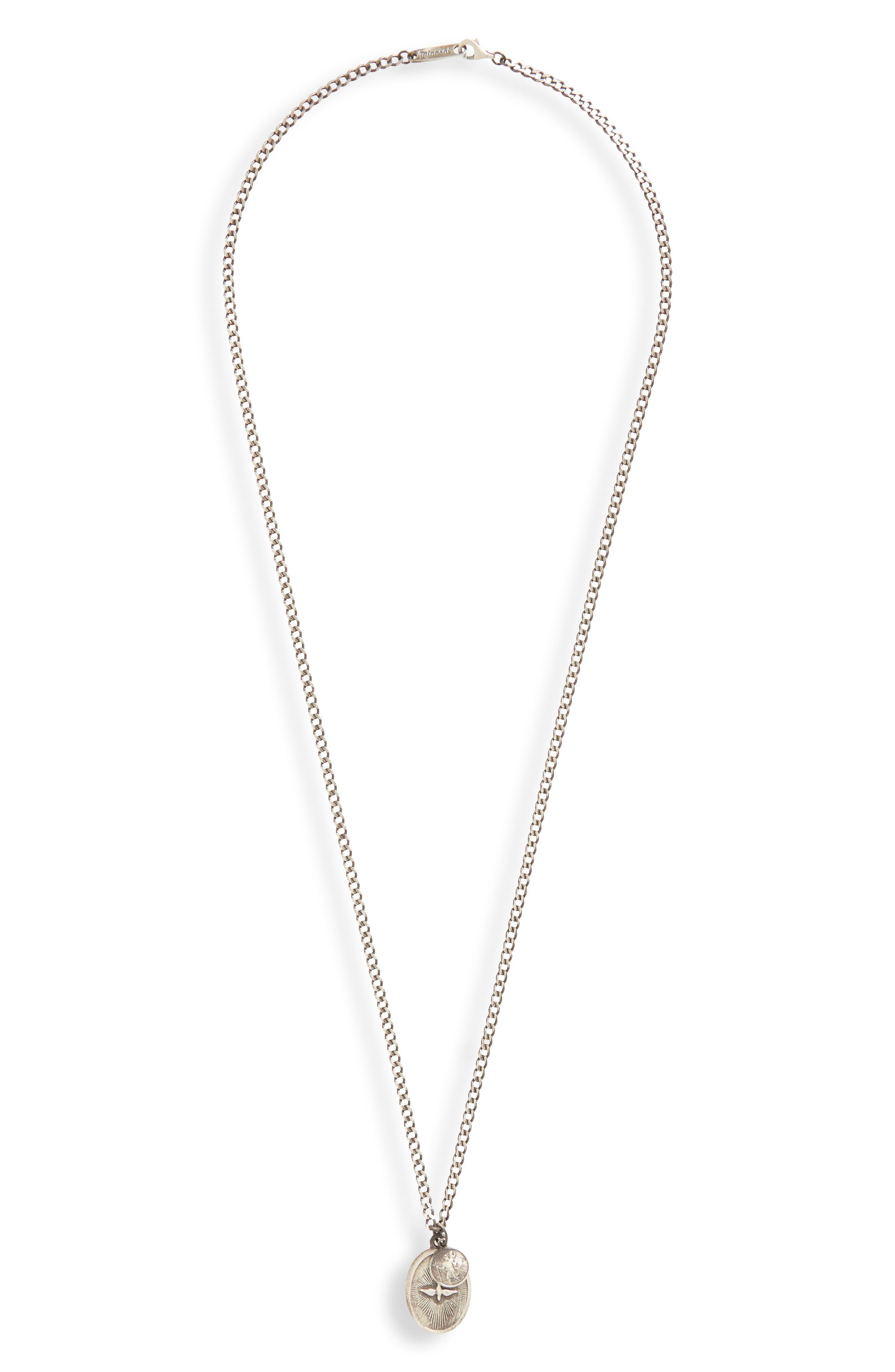 Dove Pendant Necklace,                         Main,                         color, Silver