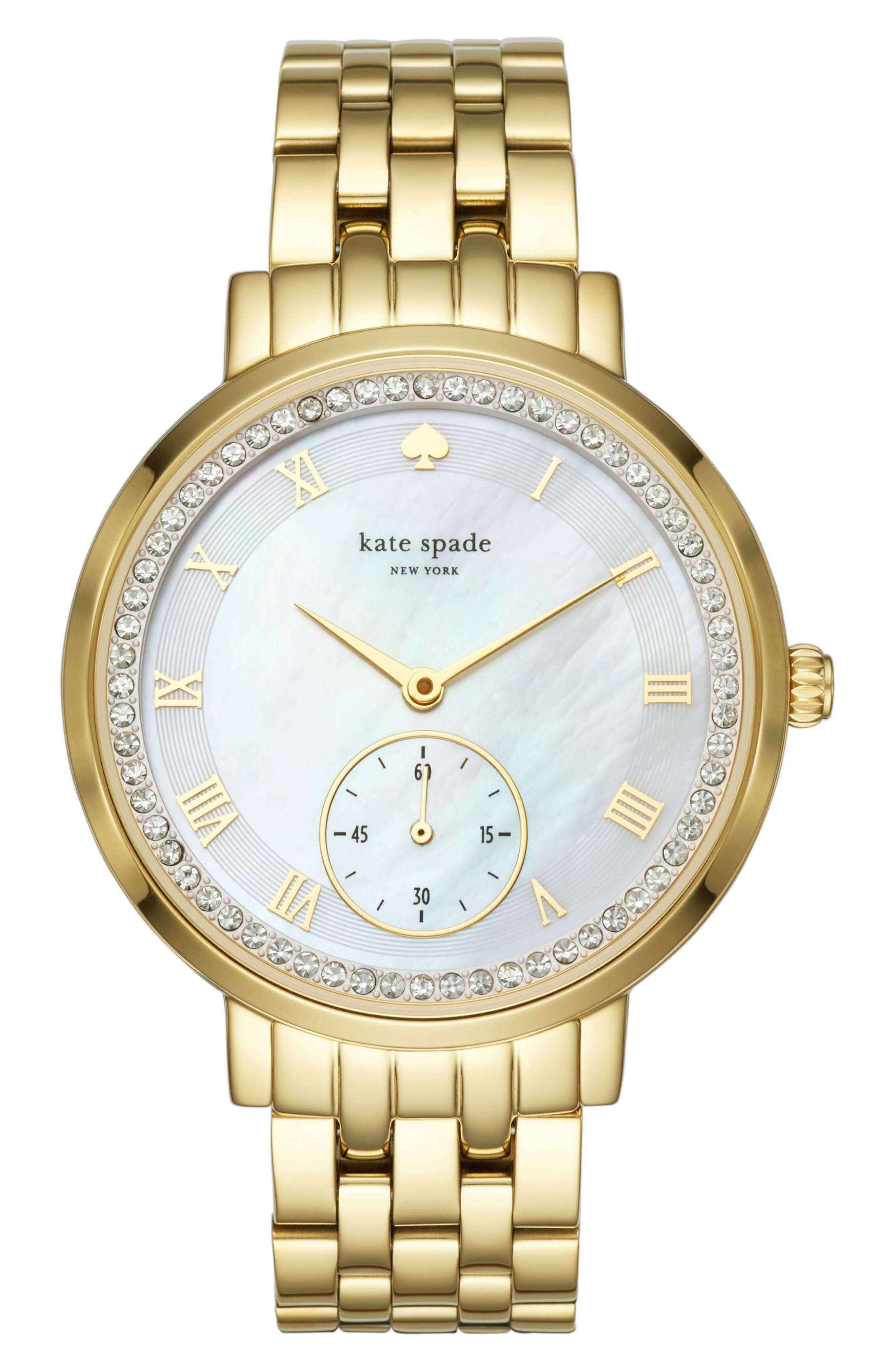 KATE SPADE NEW YORK monterey crystal dial bracelet watch, 38mm