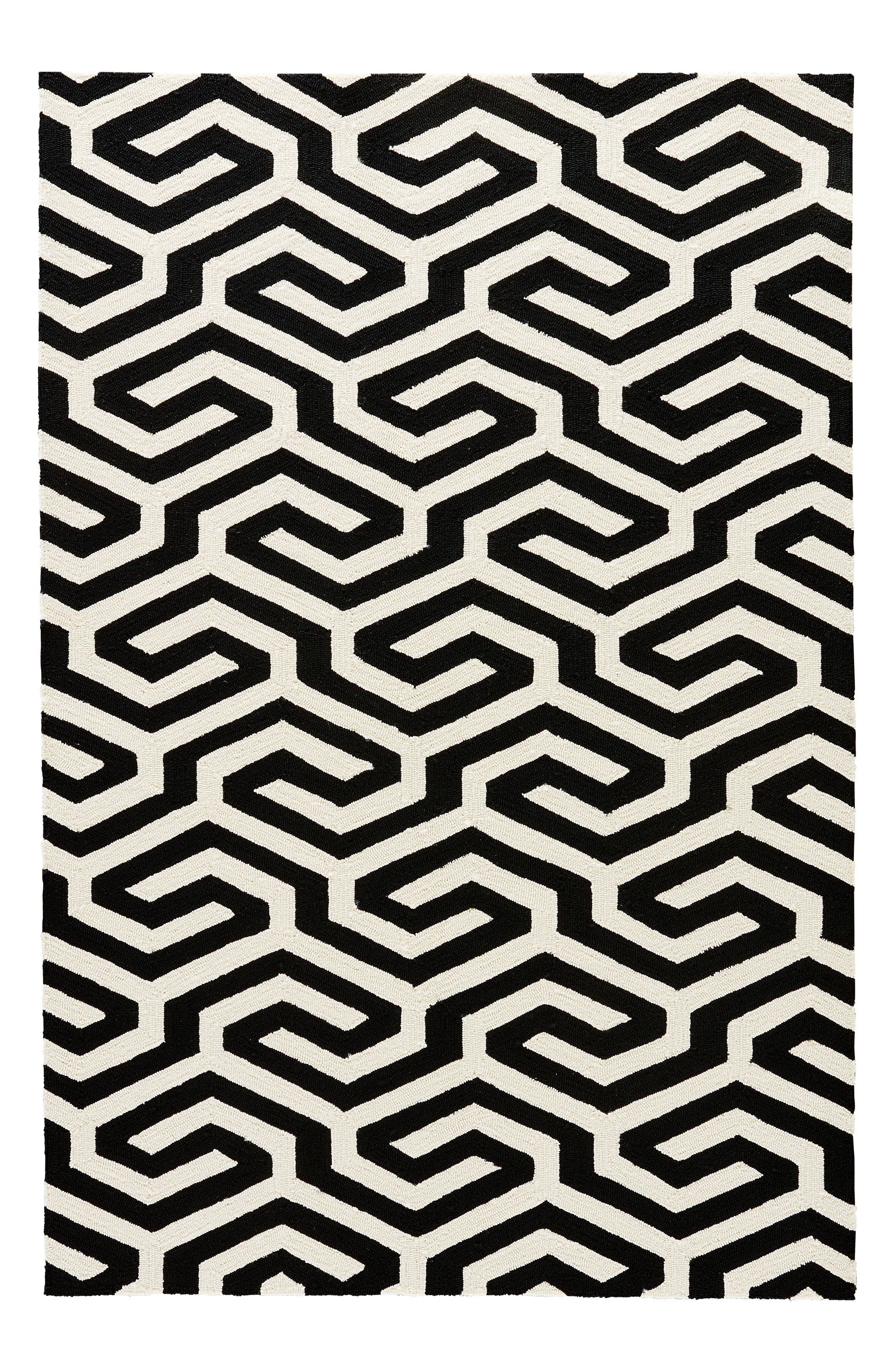 black and white geometric rug. jaipur indoor/outdoor geometric rug black and white