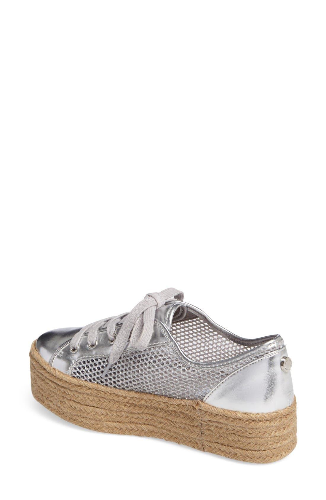 Mars Platform Sneaker,                             Alternate thumbnail 2, color,                             Silver