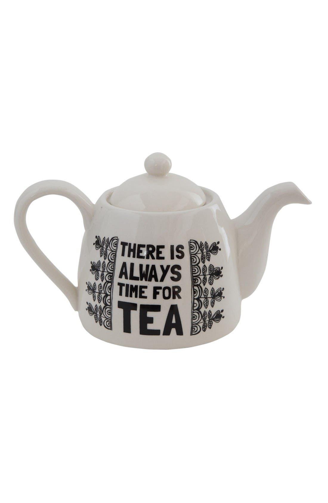 Main Image - Creative Co-Op Time for Tea Teapot