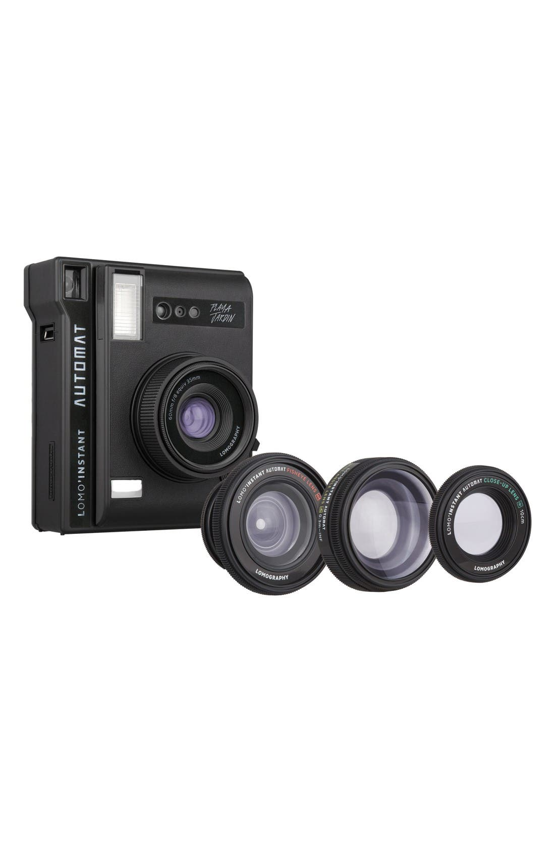 Lomo'Instant Automat Playa Jardín Instant Camera & Lenses,                         Main,                         color, Black