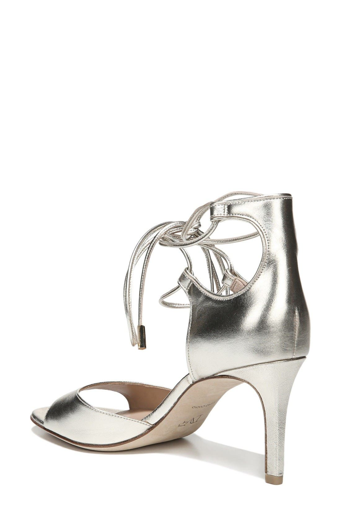 'Rimini' Ankle Wrap Sandal,                             Alternate thumbnail 2, color,                             Platino