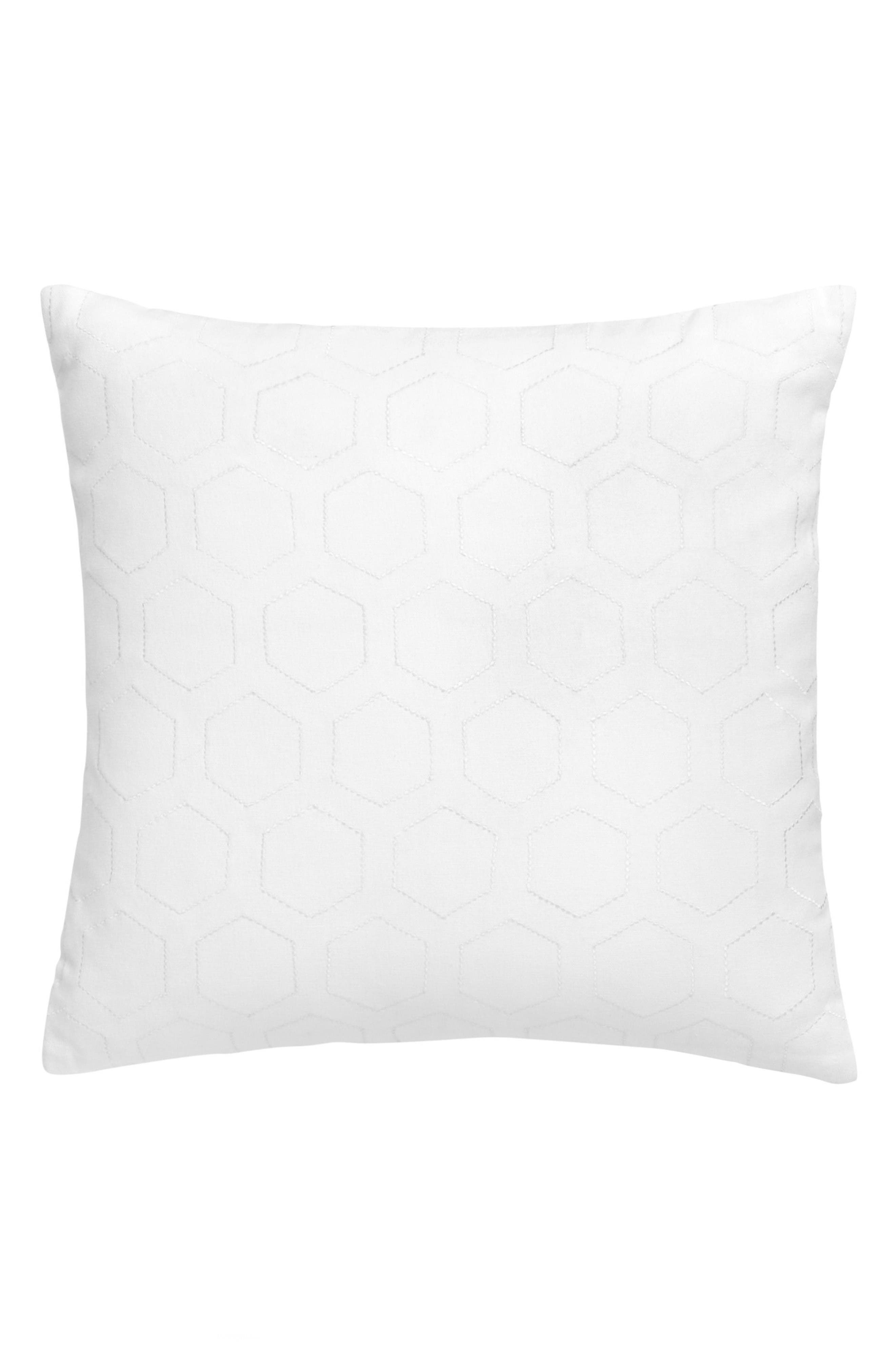 Blackpoint Hex Accent Pillow,                         Main,                         color, White