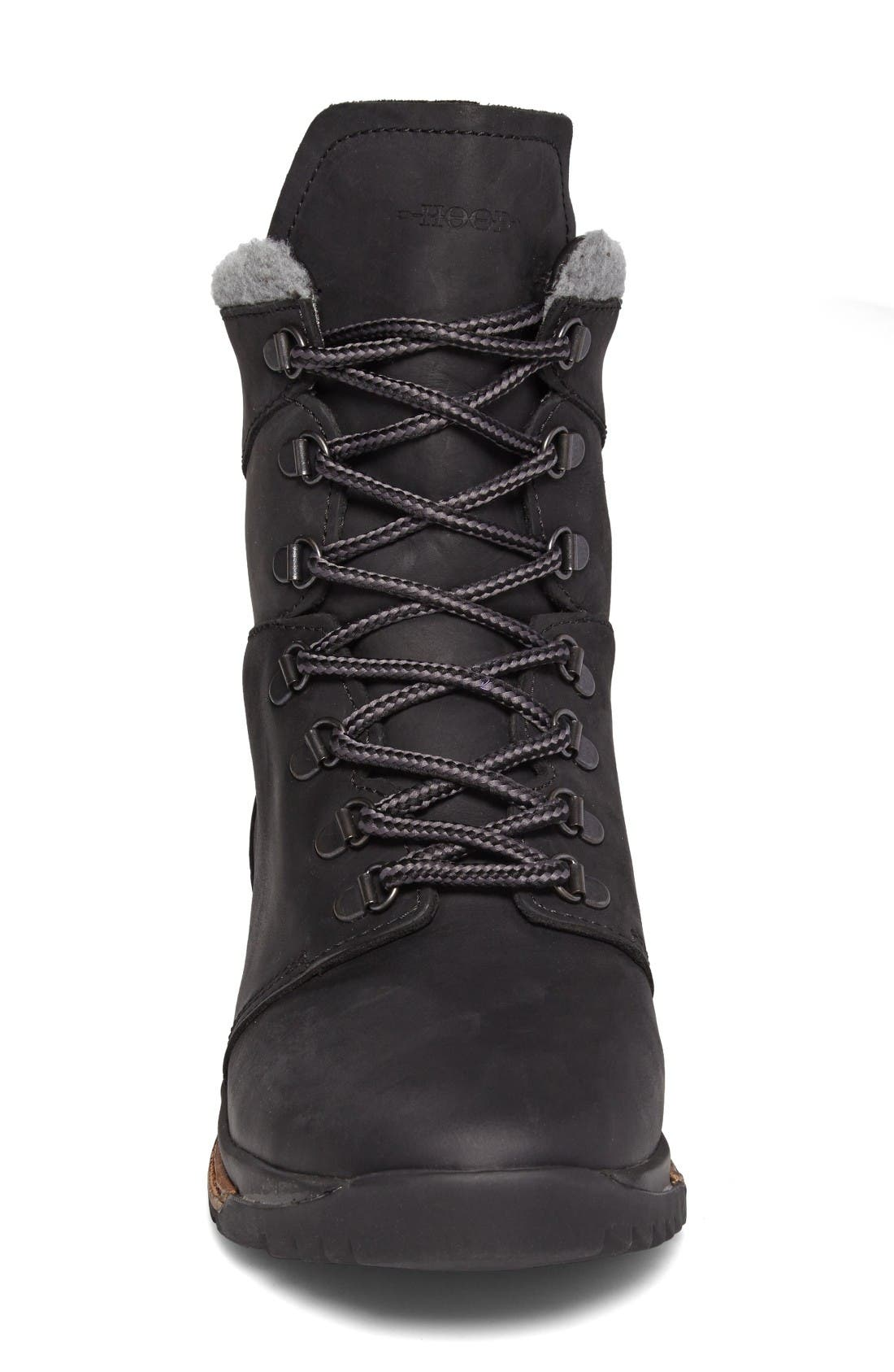 Tall Boot,                             Alternate thumbnail 3, color,                             Black Leather