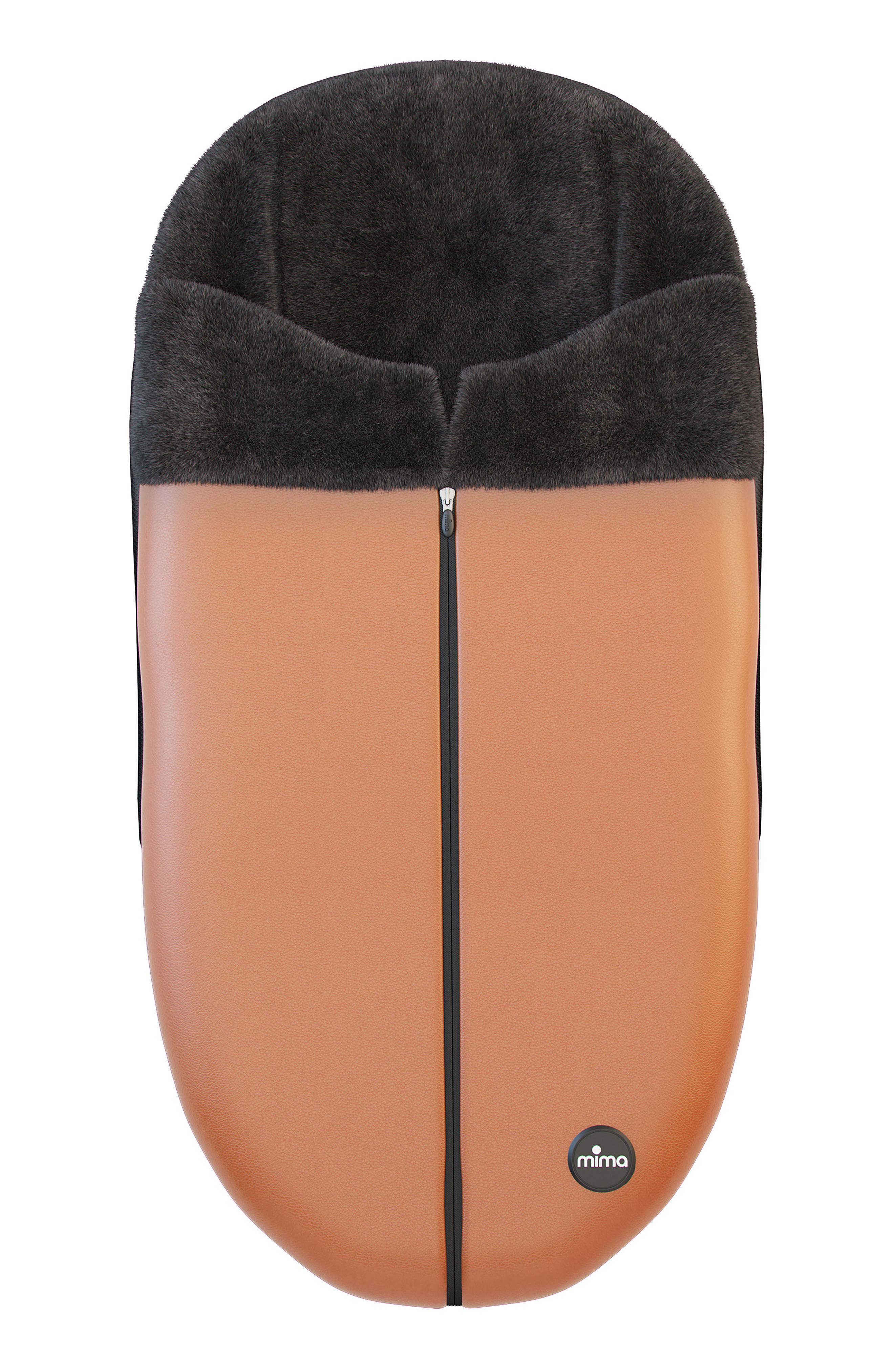 Faux Leather Footmuff,                             Main thumbnail 1, color,                             Camel