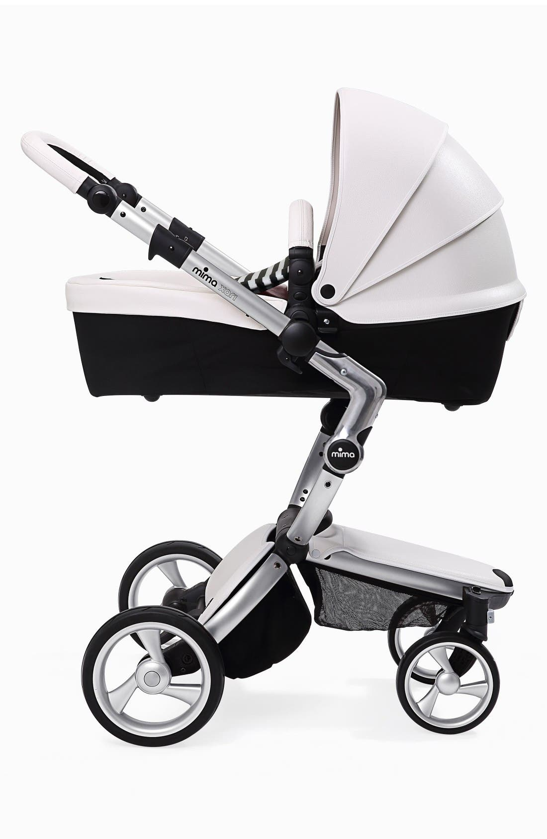 Xari Aluminum Chassis Stroller with Reversible Reclining Seat & Carrycot,                             Alternate thumbnail 6, color,                             Black / Black And White