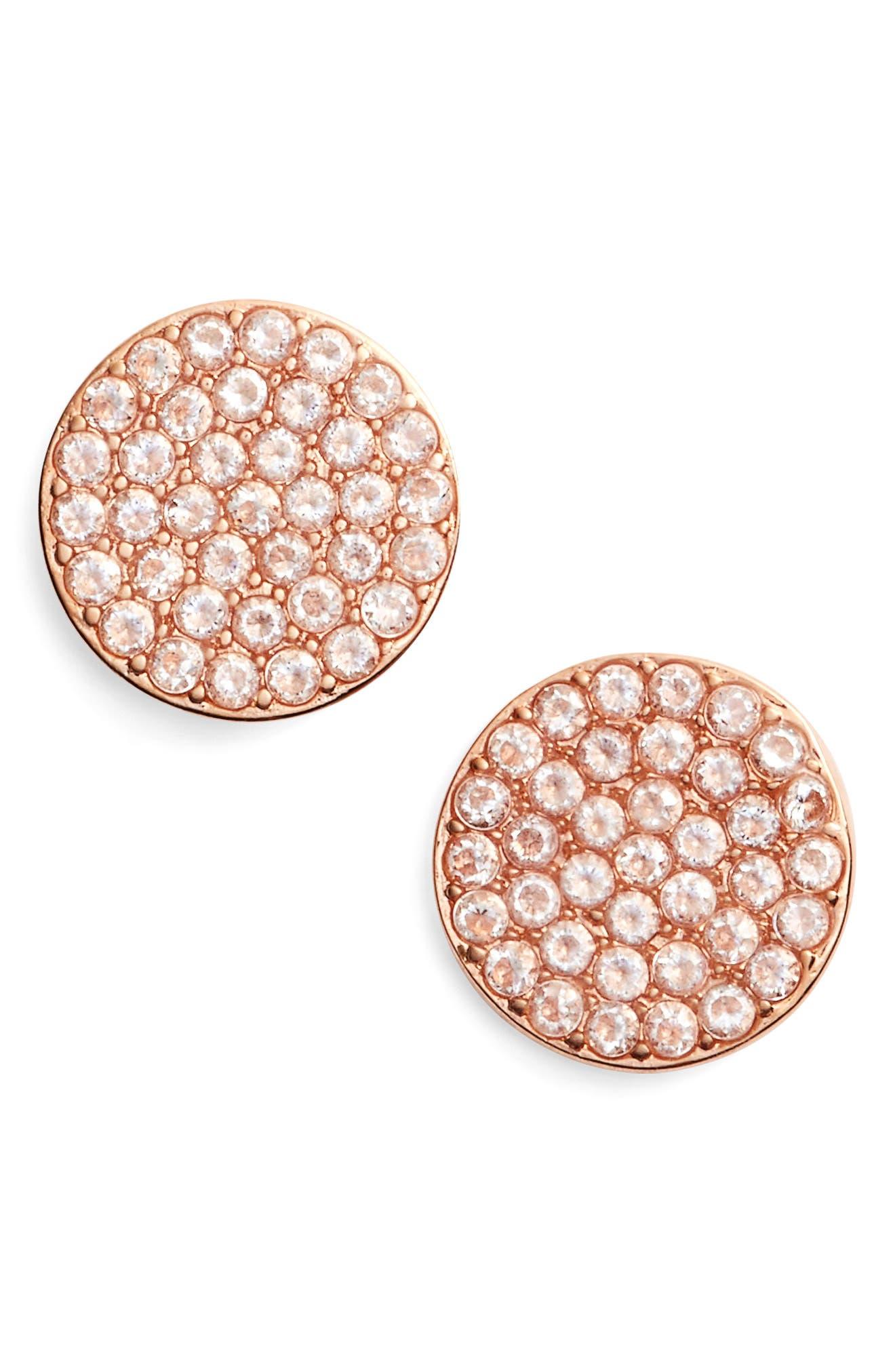 Kate Spade Shine On Stud Earrings, Rose/ Clear