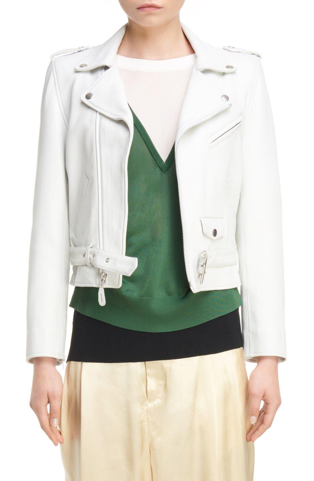 TOGA Crop Leather Jacket