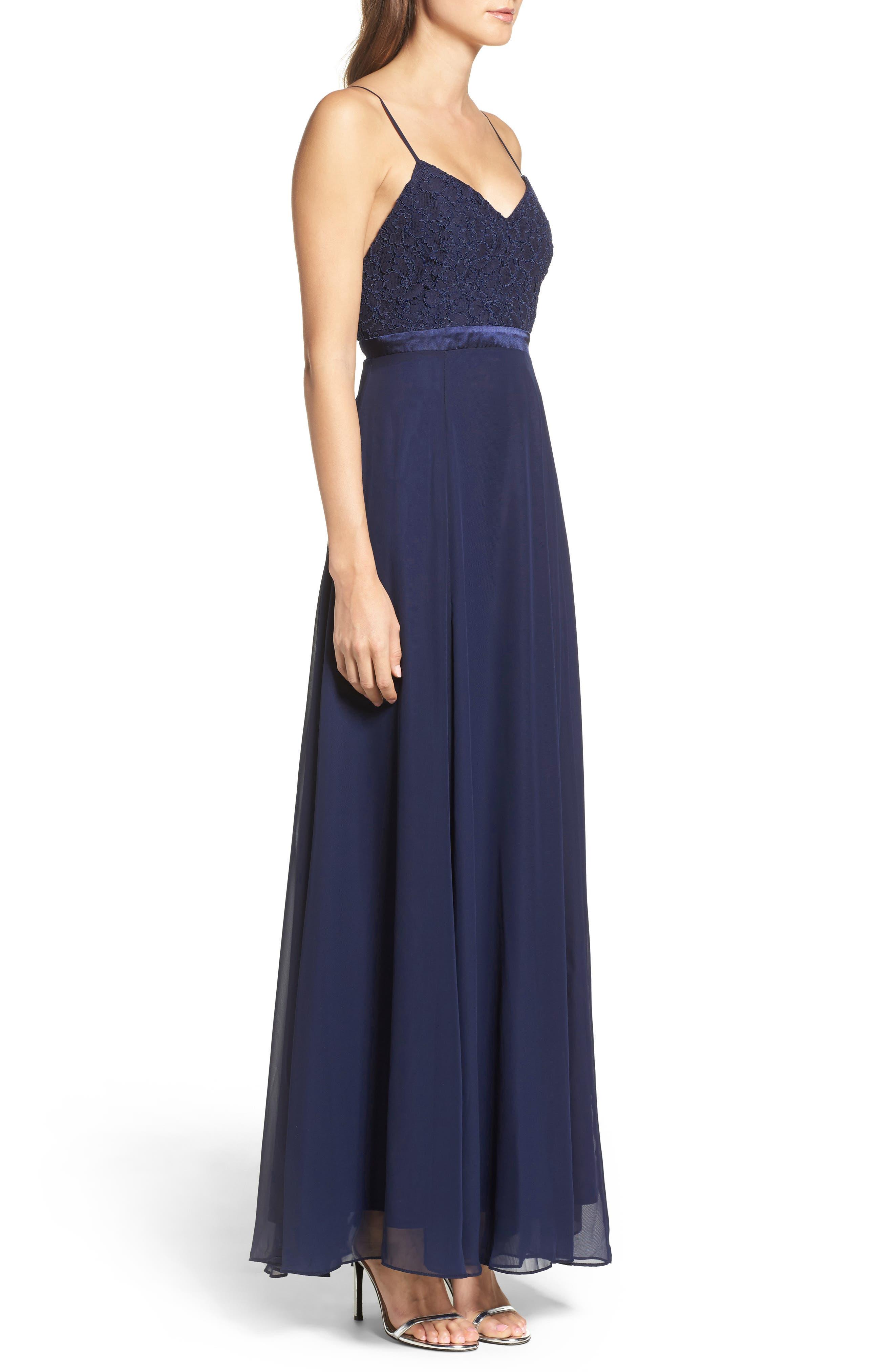 Alternate Image 3  - Lulus Embellished Lace Gown