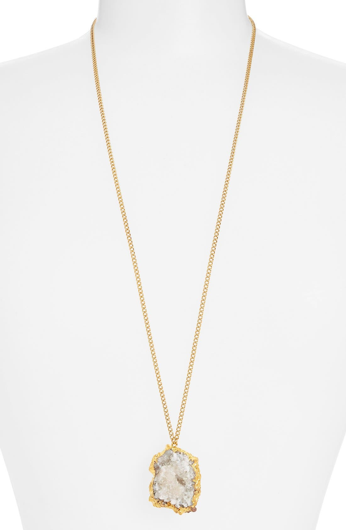 Alternate Image 1 Selected - Nordstrom 'Sorcerer's Stone' Long Drusy Pendant Necklace