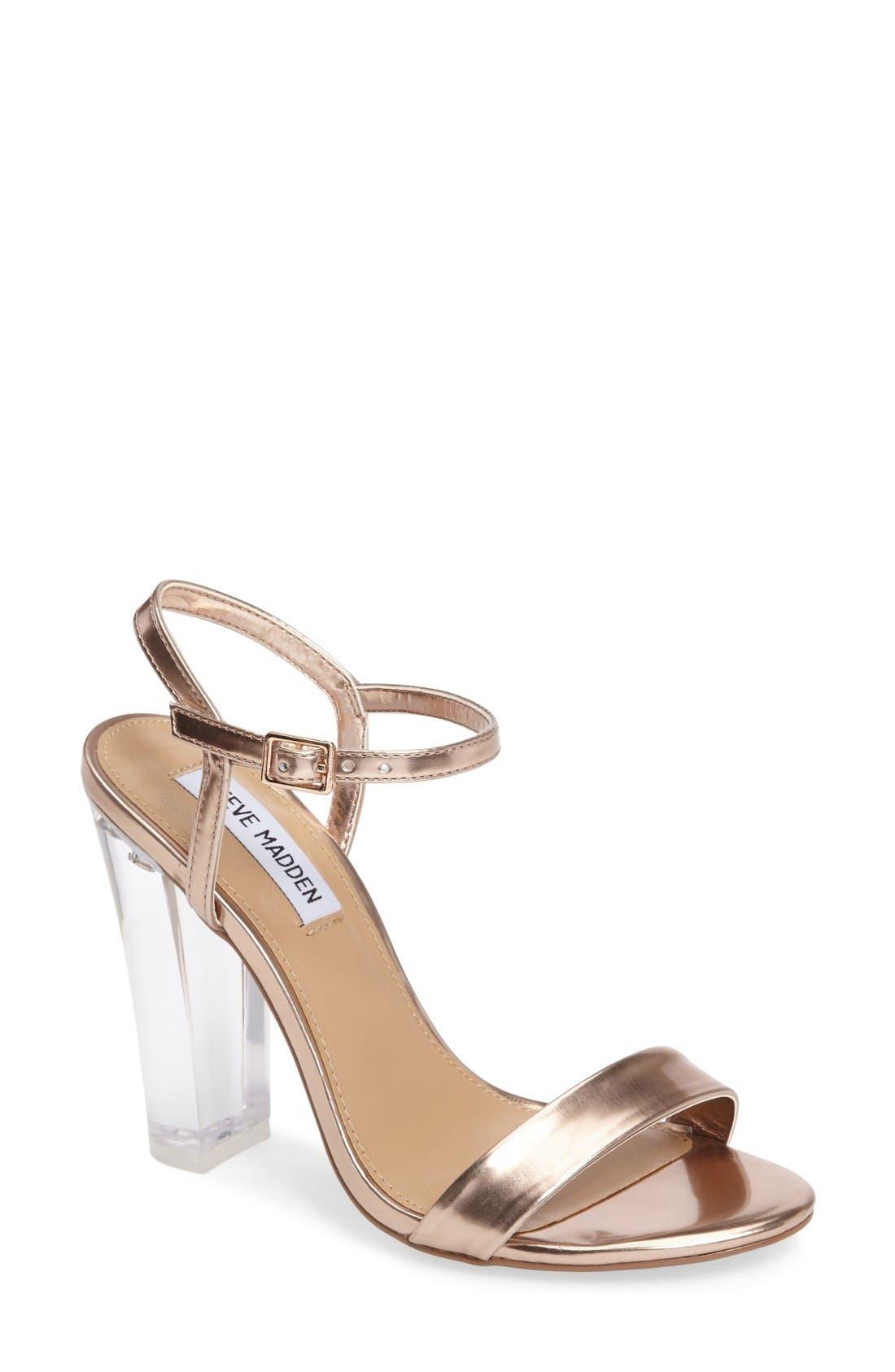 Alternate Image 1 Selected - Steve Madden Vallery Clear Heeled Sandal (Women)