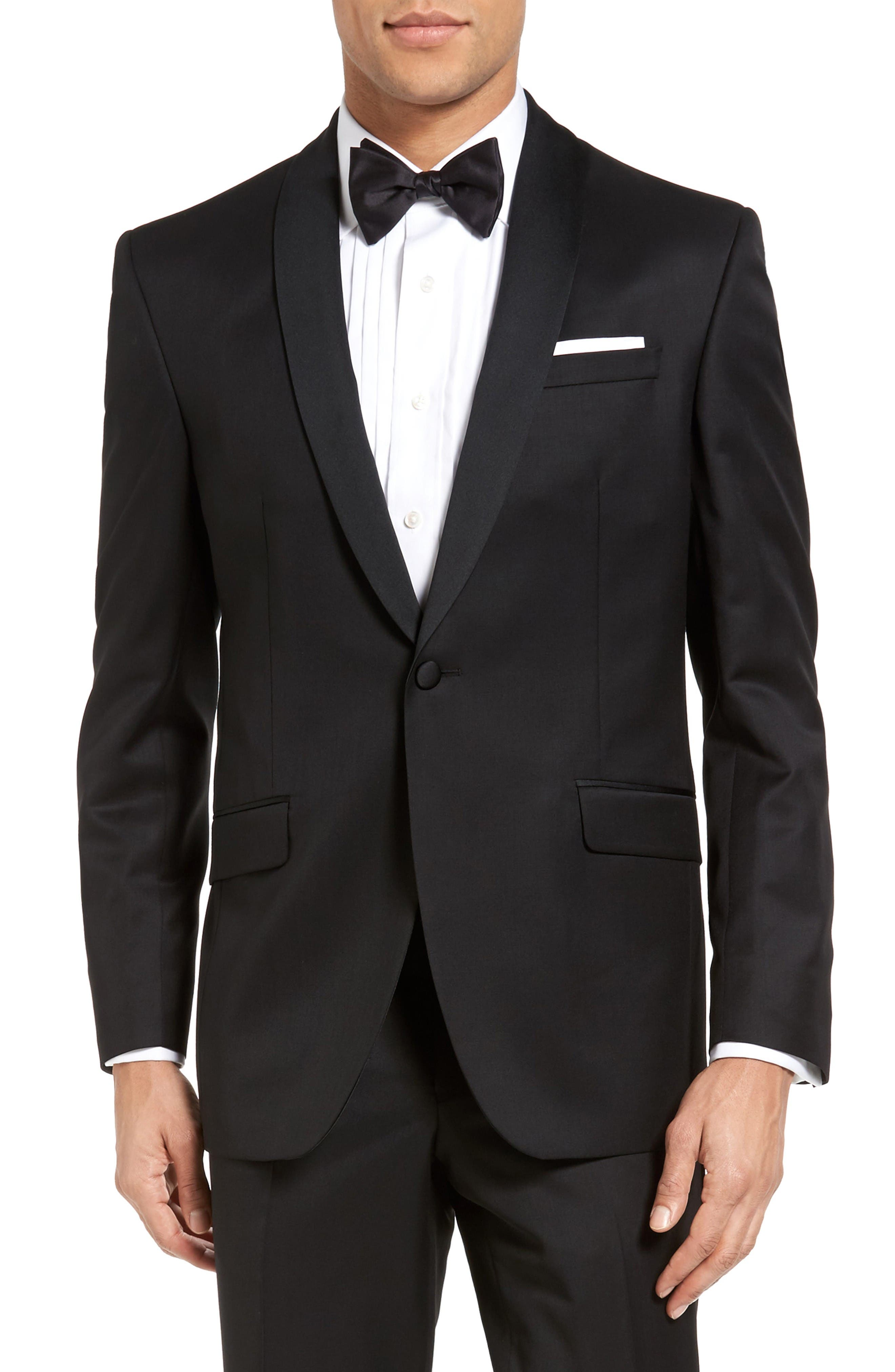 Alternate Image 5  - Ted Baker London Josh Trim Fit Wool & Mohair Tuxedo