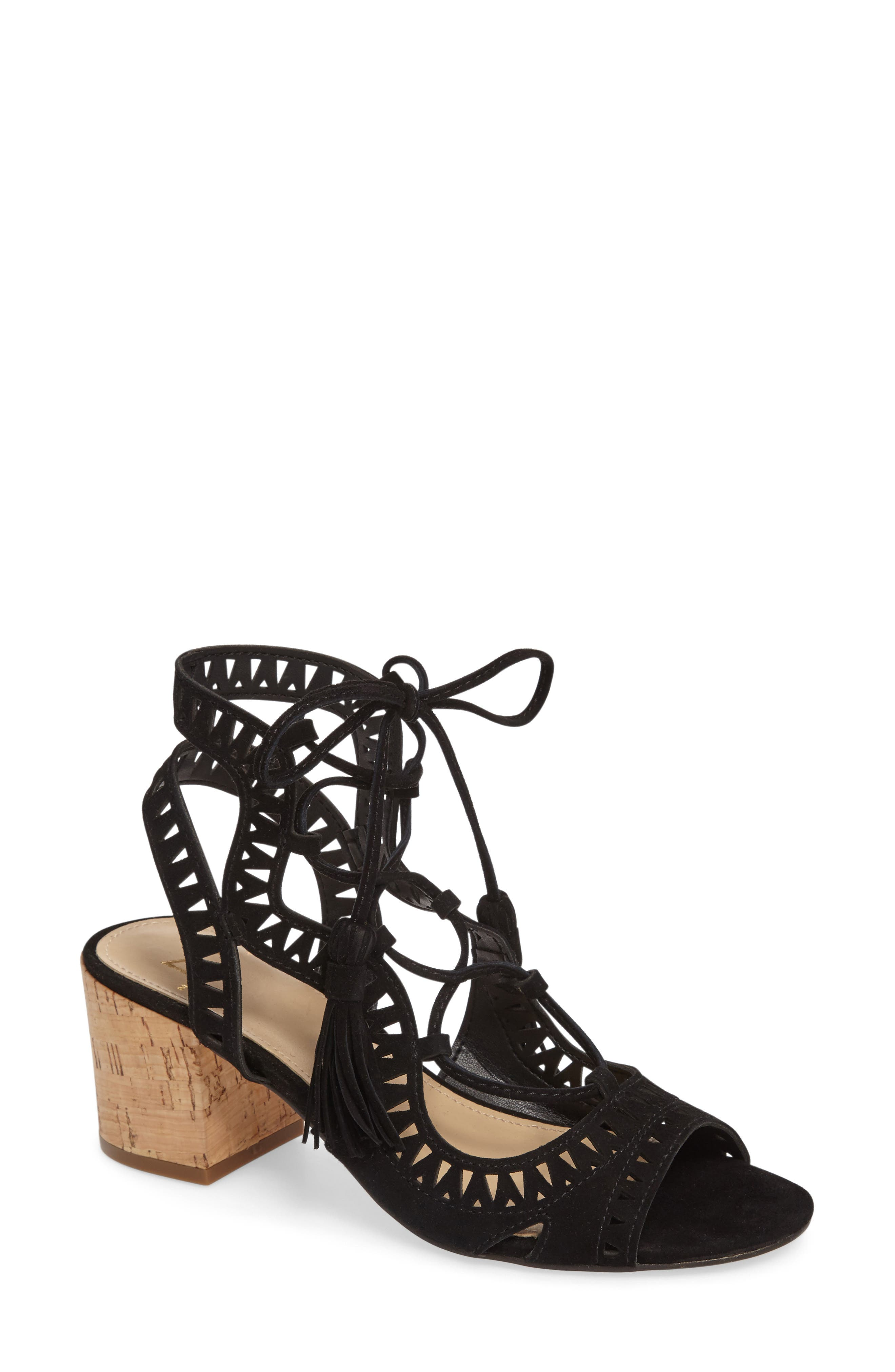 Alternate Image 1 Selected - Marc Fisher LTD Remone Ghillie Lace Sandal (Women)