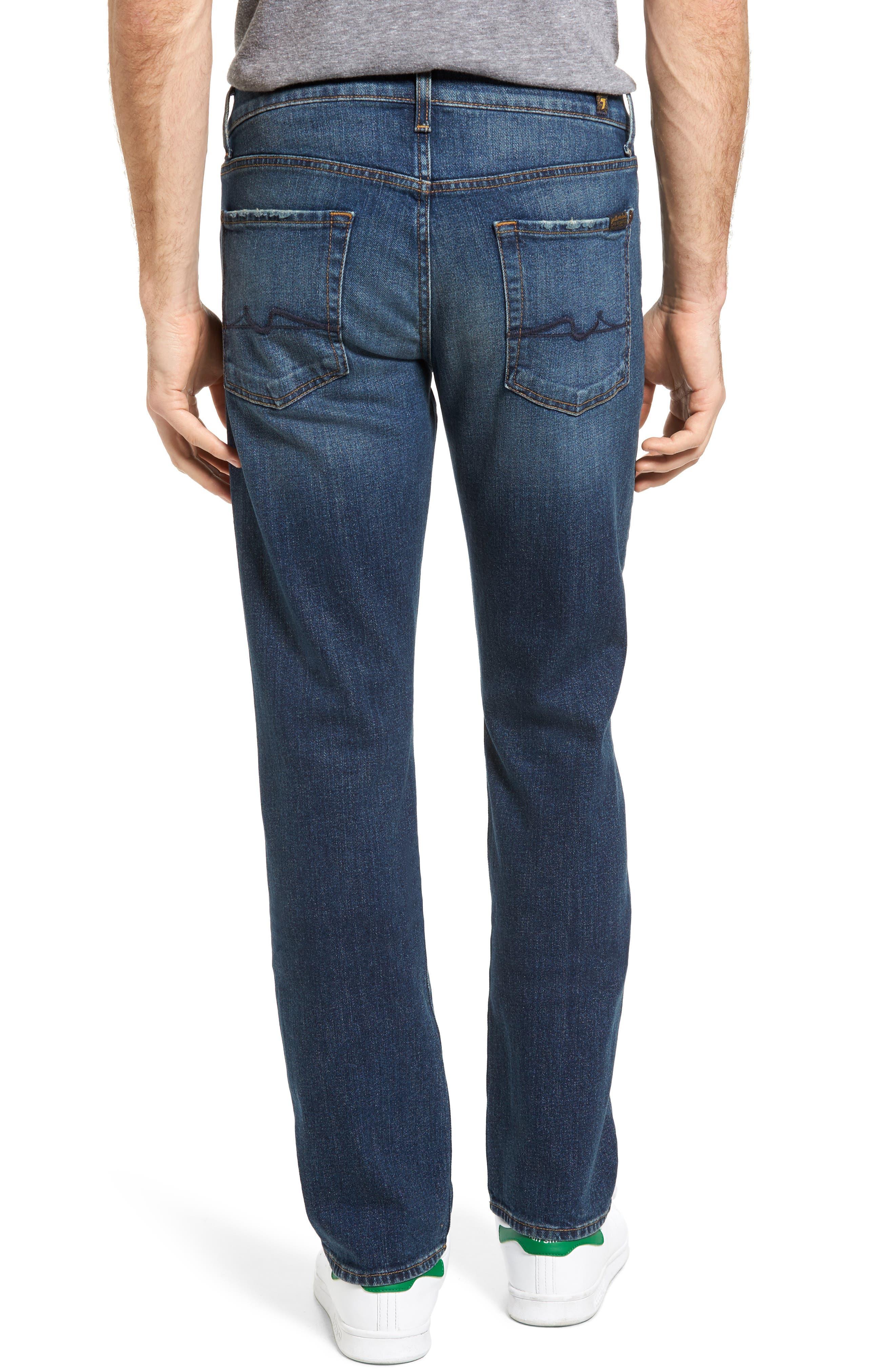 Alternate Image 2  - 7 For All Mankind® Slimmy Slim Fit Jeans (Carolina Tide)