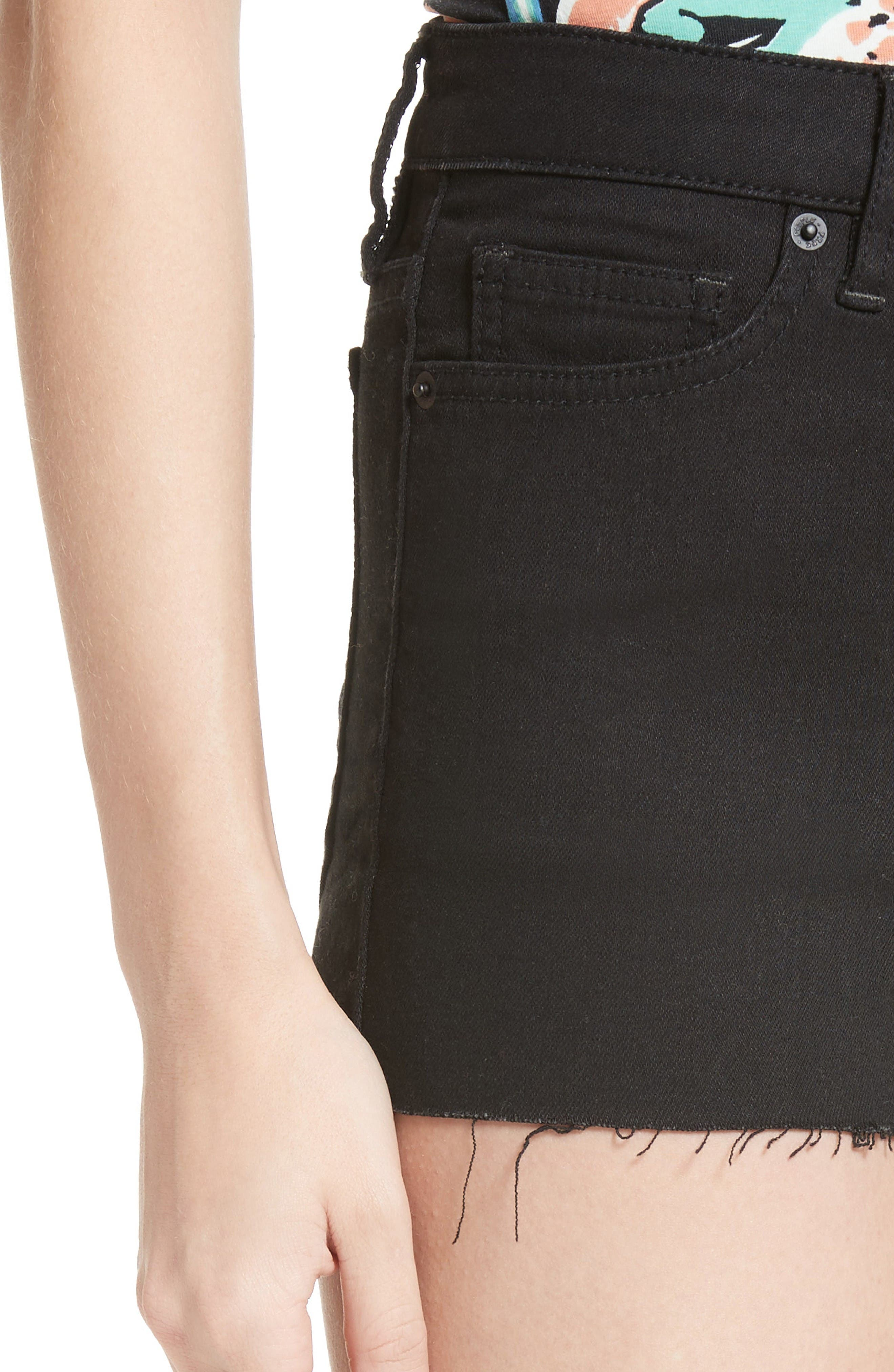 Alternate Image 4  - Free People High Rise Cutoff Shorts