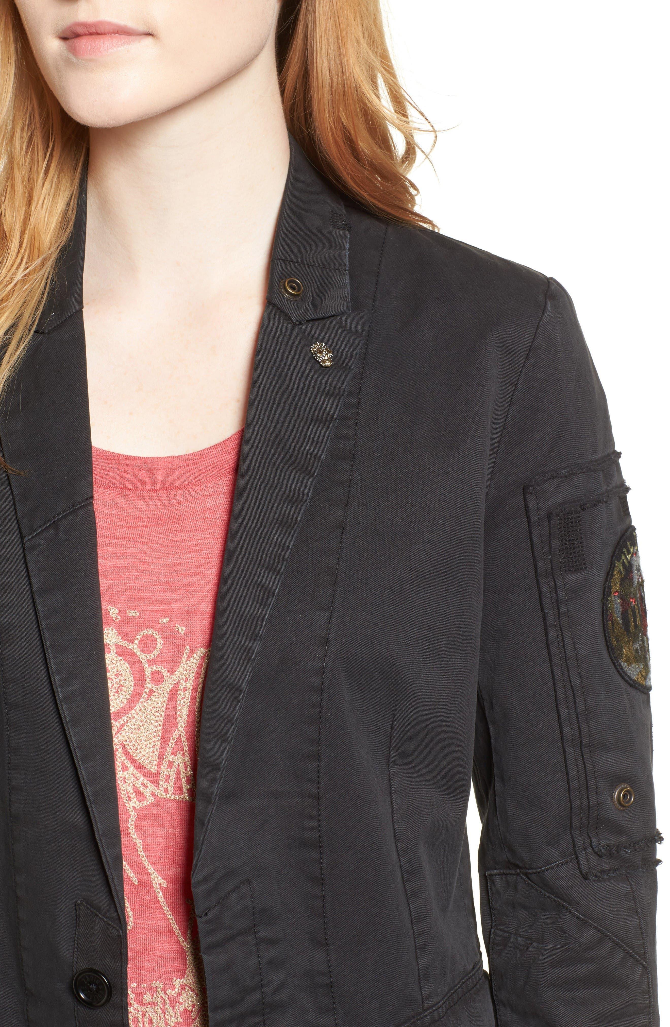Virginia Jacket,                             Alternate thumbnail 4, color,                             Black