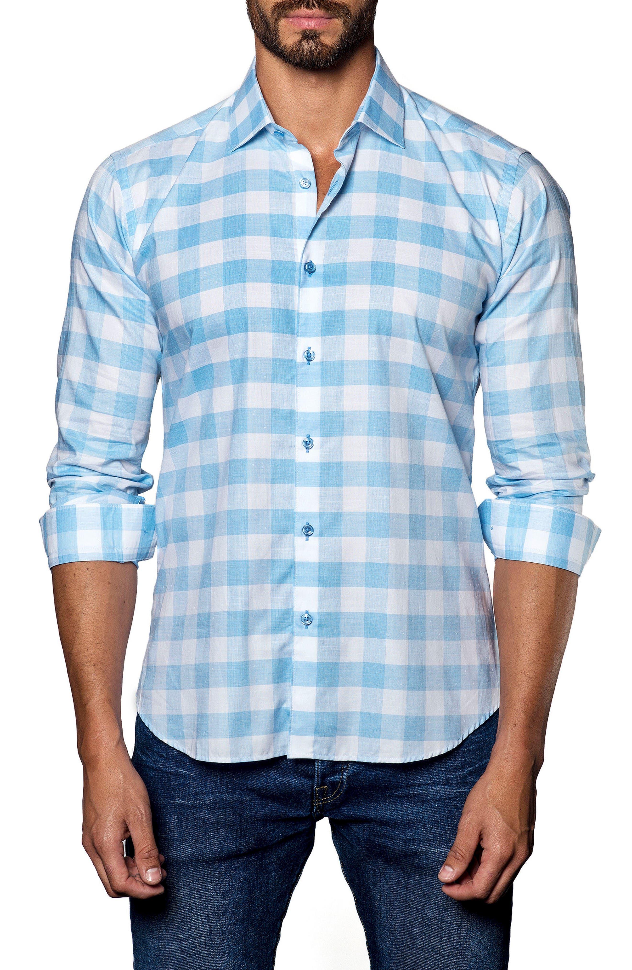 Main Image - Jared Lang Trim Fit Check Sport Shirt