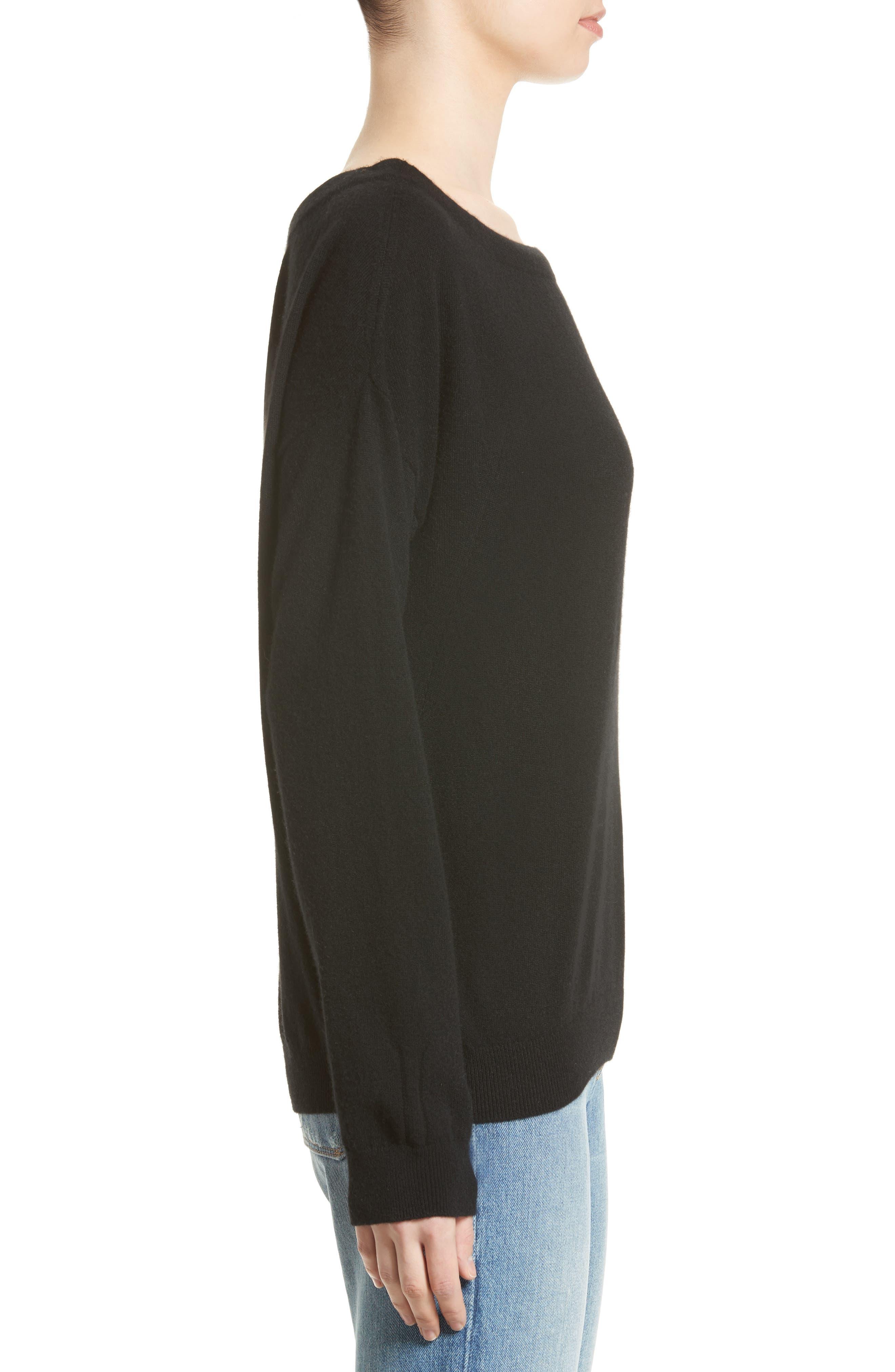 Alternate Image 4  - Vince Convertible Cold Shoulder Cashmere Sweater