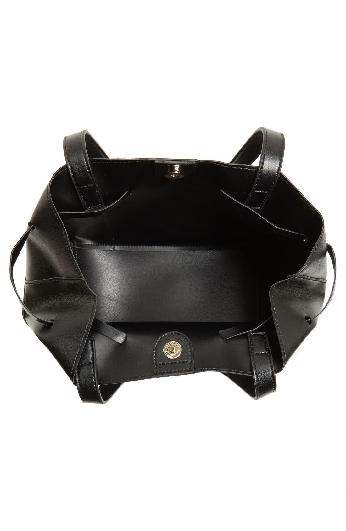 Alternate Image 4  - Sole Society Jocelynn Faux Leather Bucket Bag