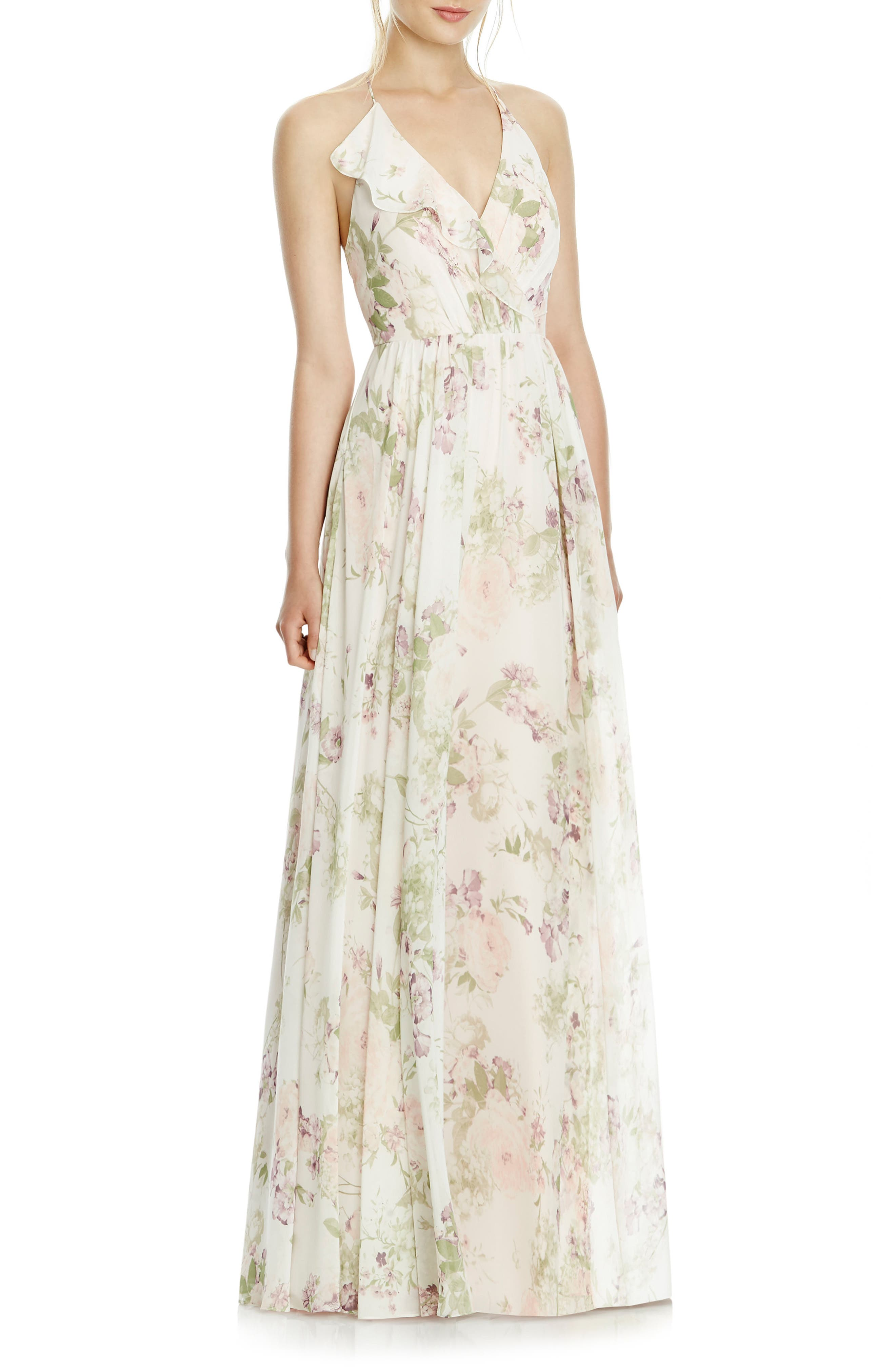 Alternate Image 1 Selected - JY Jenny Yoo Chiffon A-Line Gown