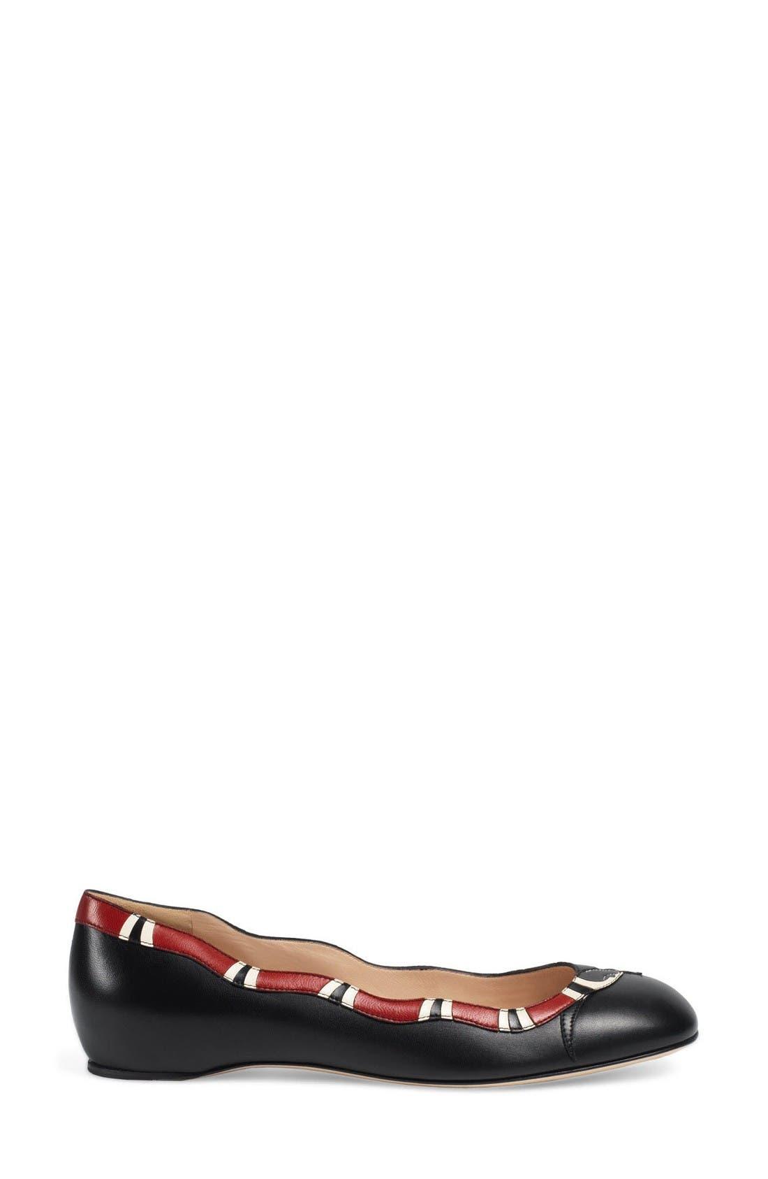 Alternate Image 4  - Gucci Kingsnake Ballet Flat (Women)
