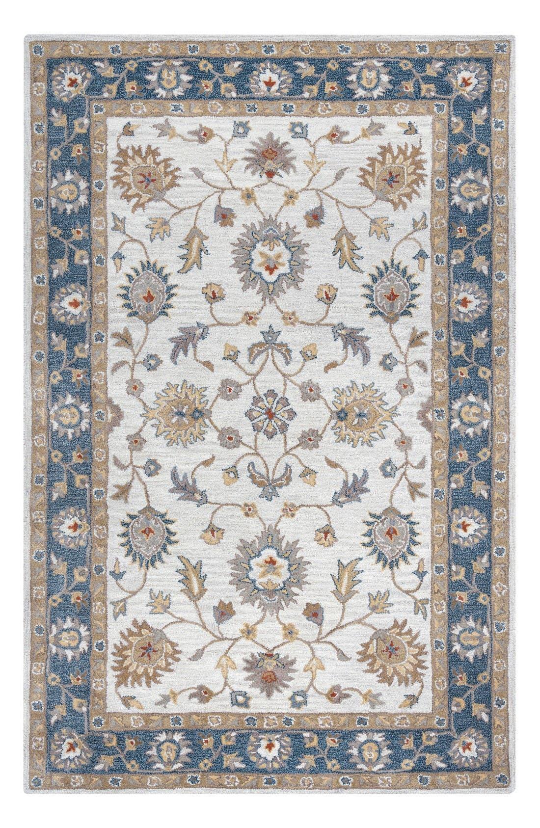 Main Image - Rizzy Home 'Valintino Border' Hand Tufted Wool Area Rug