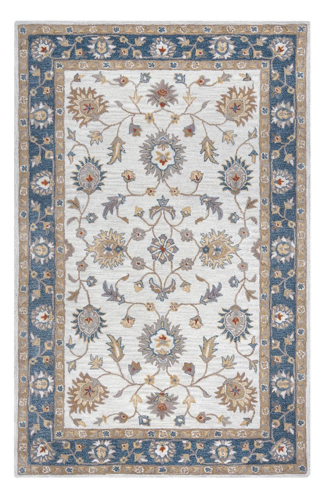 'Valintino Border' Hand Tufted Wool Area Rug,                         Main,                         color, Taupe