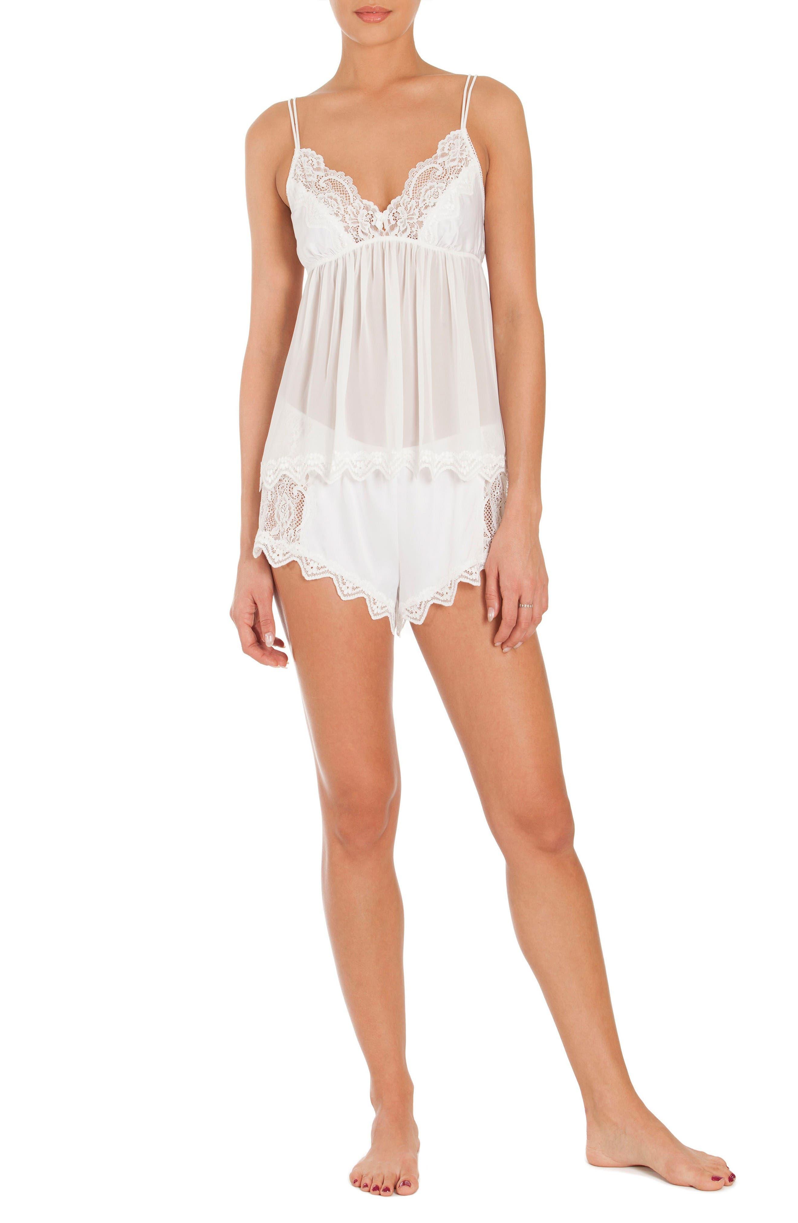 Chiffon Pajamas,                             Alternate thumbnail 6, color,                             Off-White